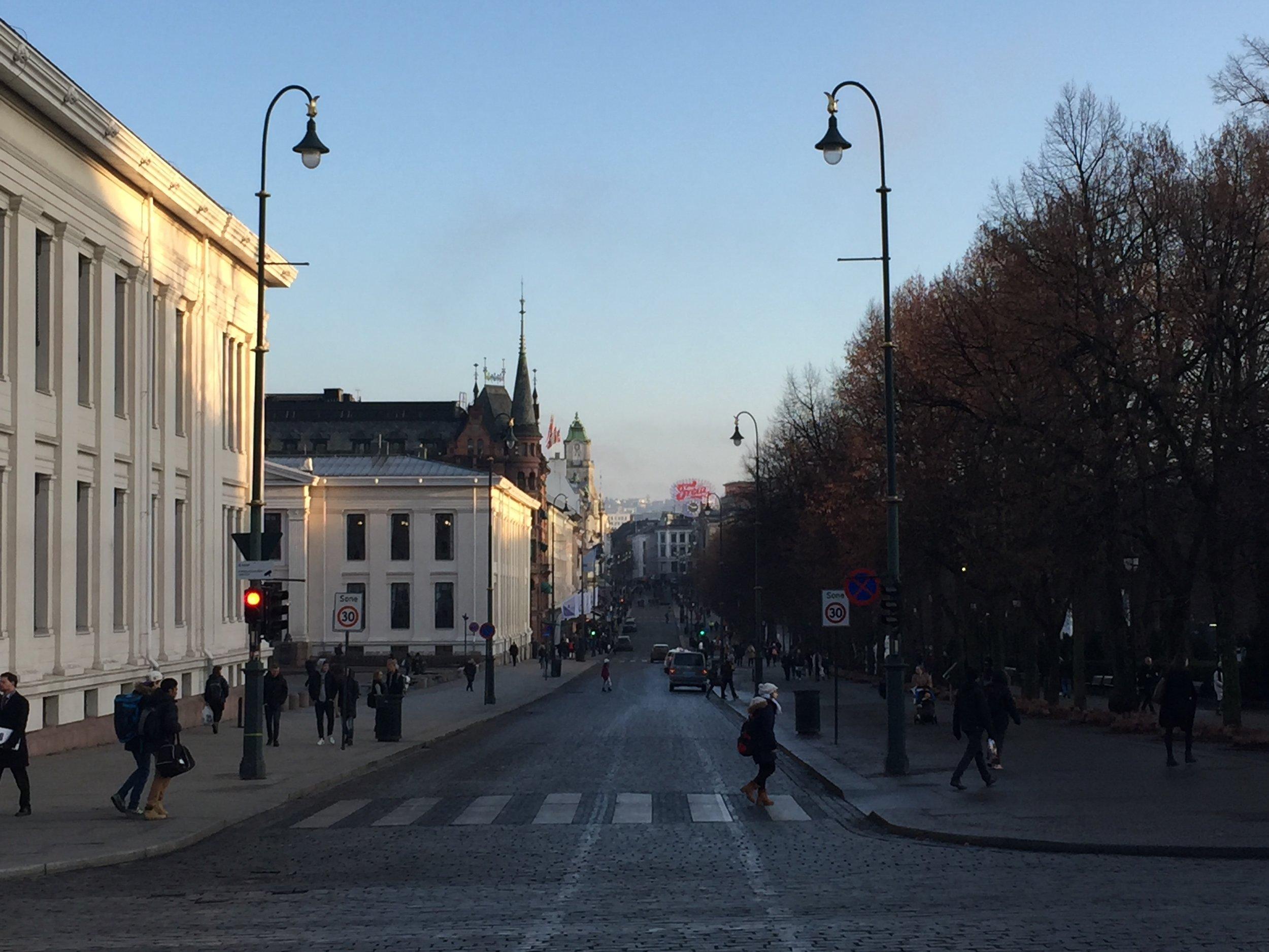 Karl Johans gate.