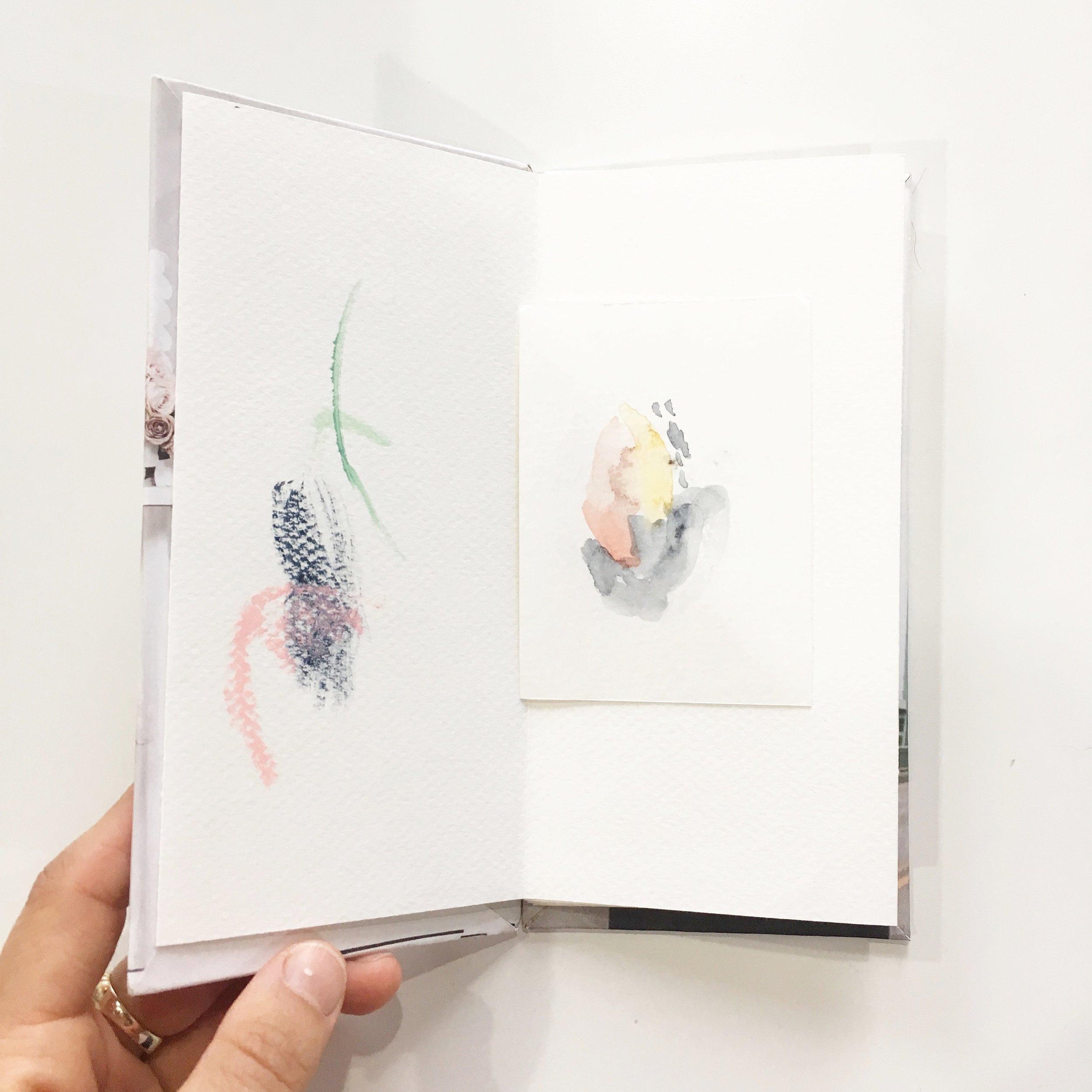 A tiny handmade sketchbook