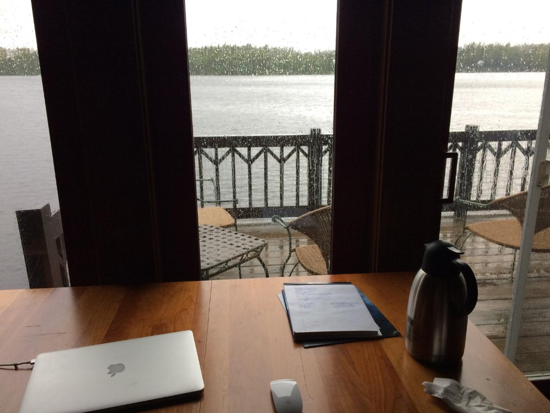 Writing at 3 Loons.jpg