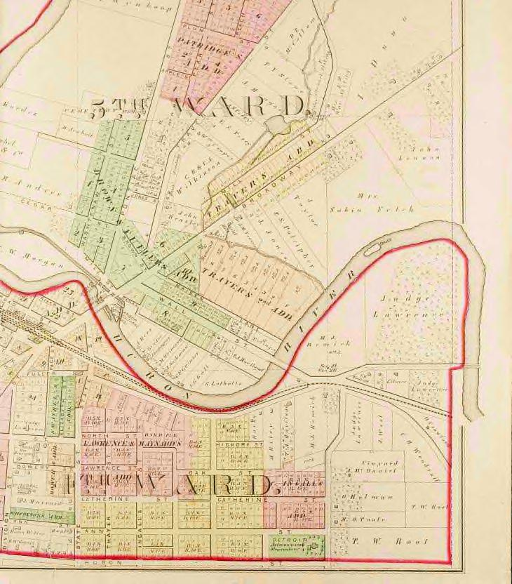 Map of Lower Town, 1874