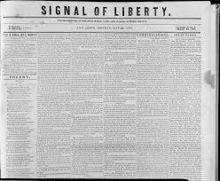 Signal of Liberty, 1843
