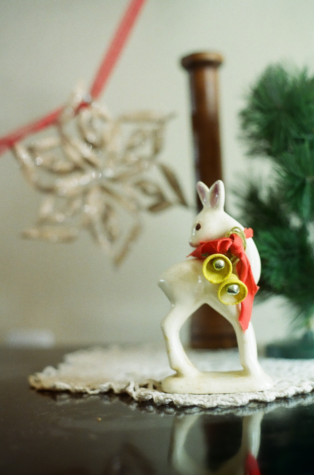 This precious, little ceramic reindeer came from my grandfather's estate.