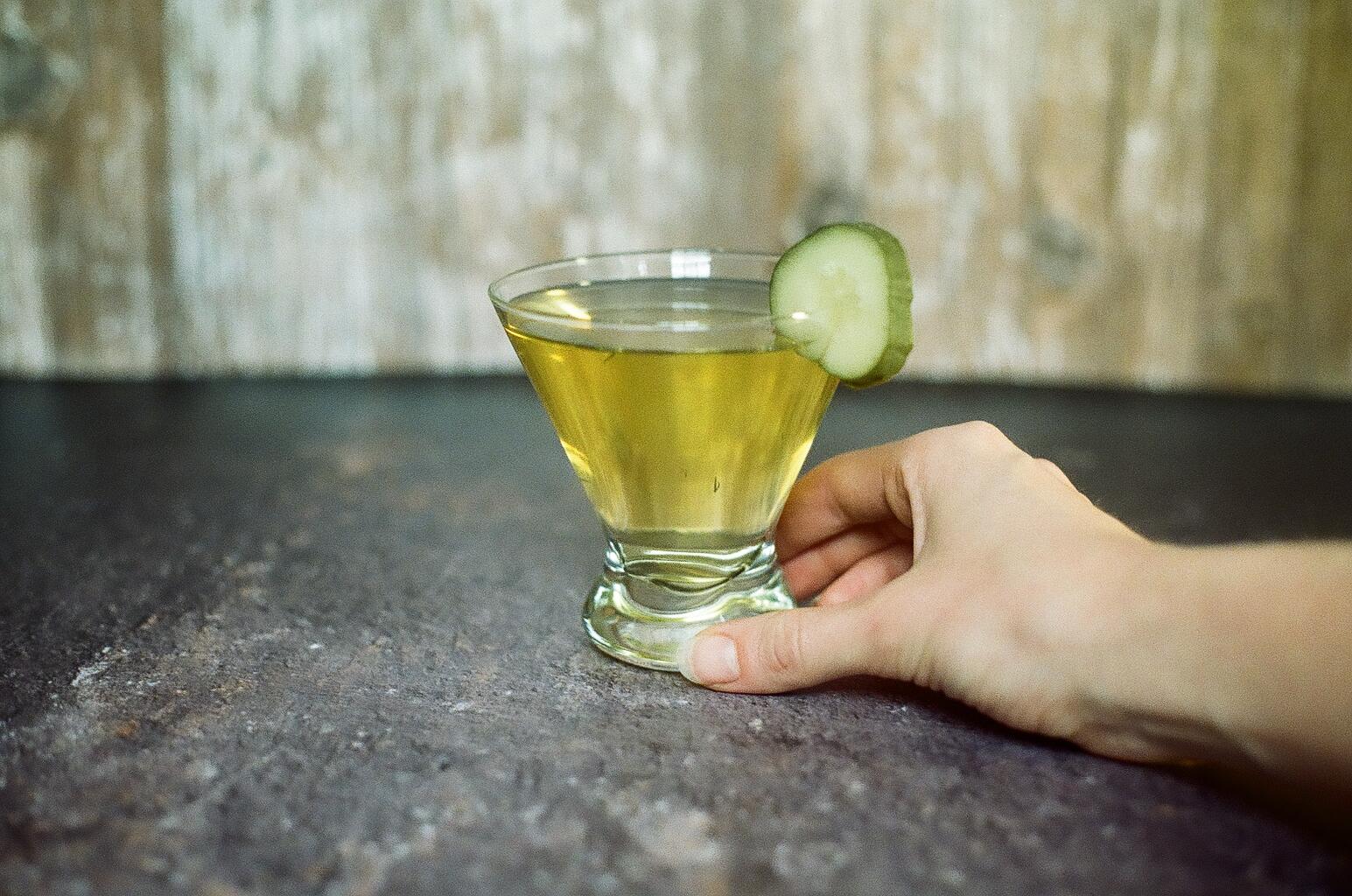 Dill Pickle Vodka Martini 2