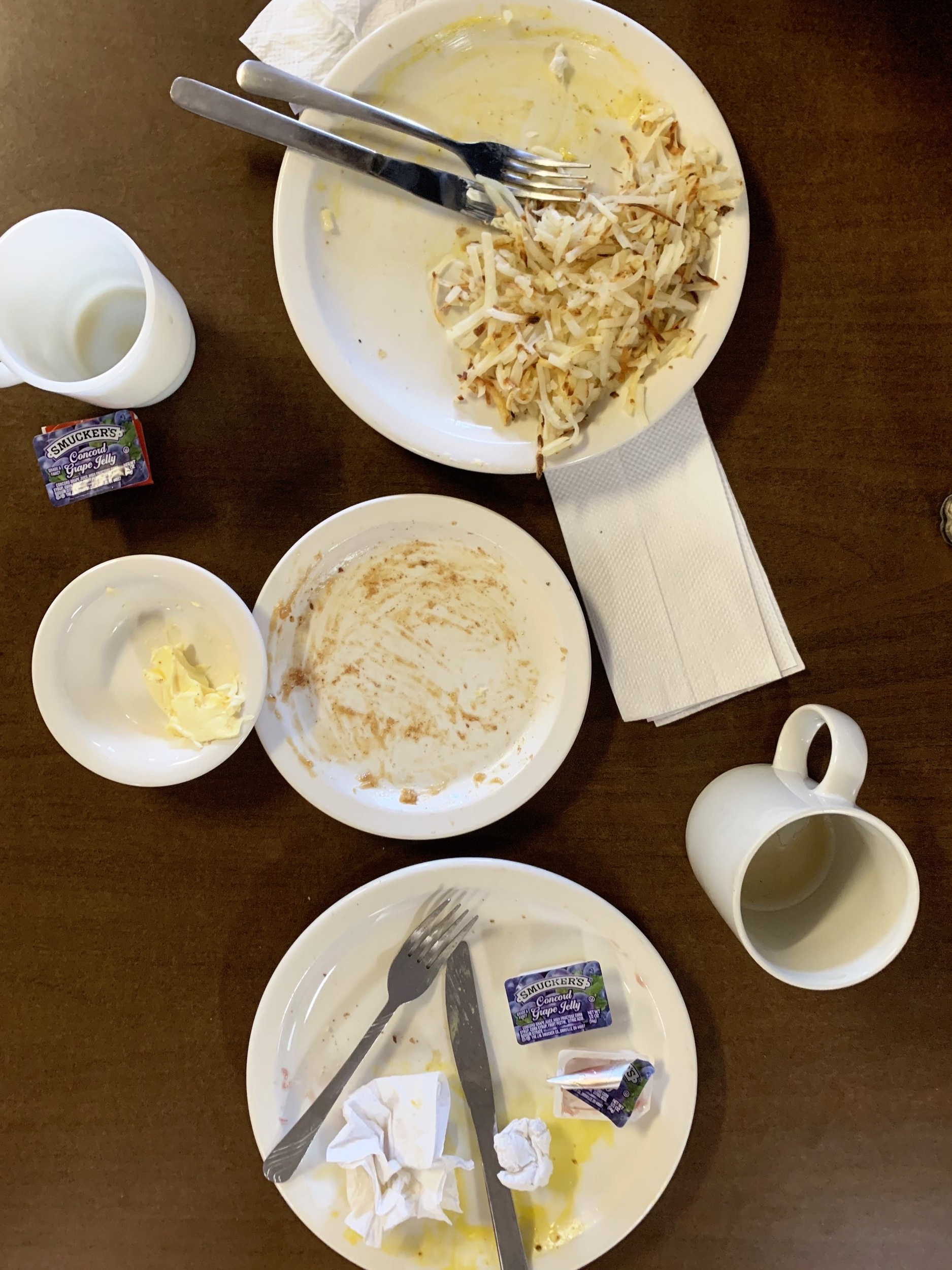 """Solid meal at Carol's Kitchen in Robinson, North Dakota. For one hour my dream was fulfilled of being part of the """"old guys drinking coffee club""""."""