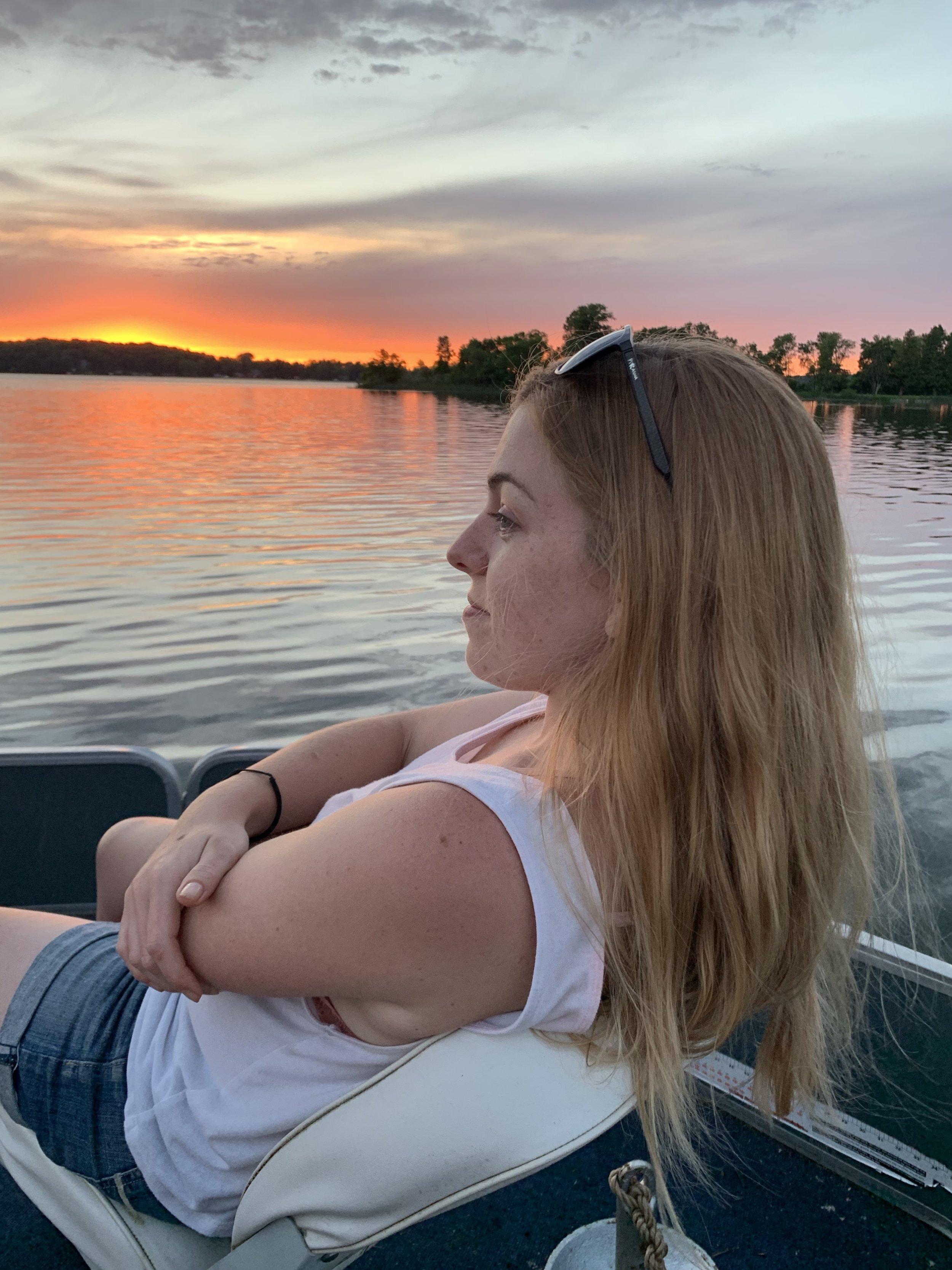 Rachel on Tamarack Lake