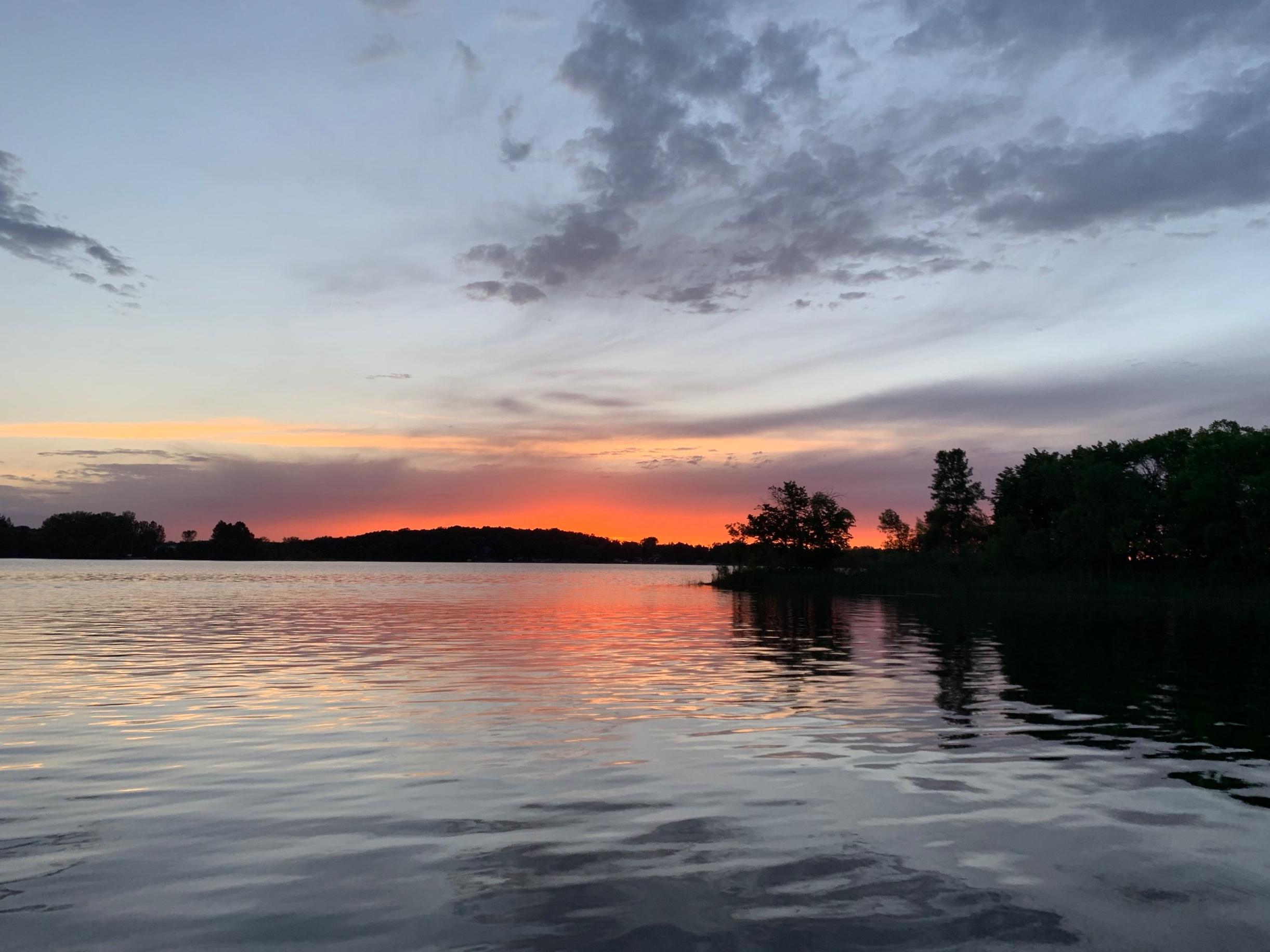 Sunset on the lake, Minnesota