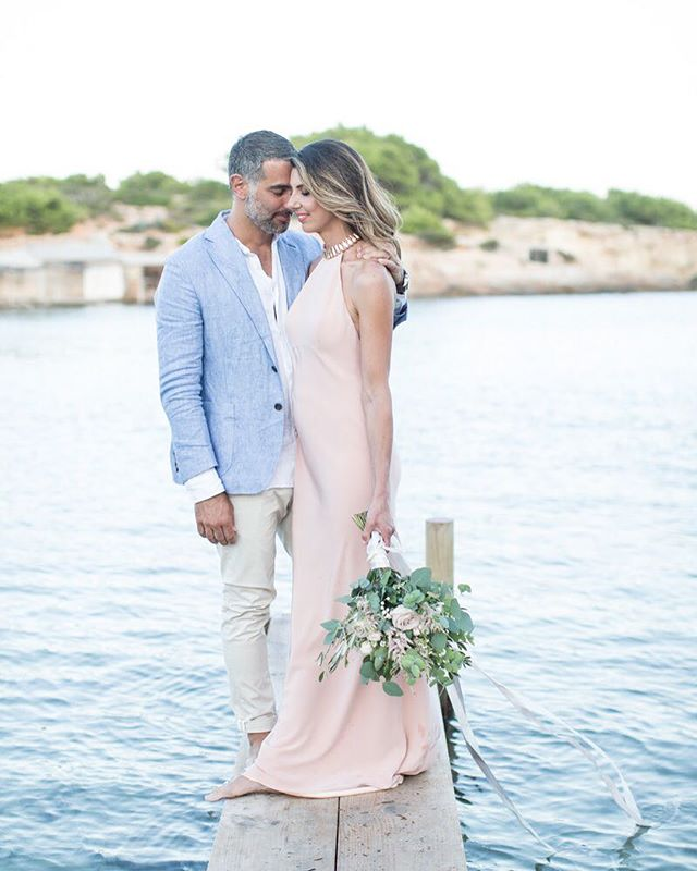 LOVE ⚡️ Is in the air September weddings in ibiza are in full swing. Happy Anniversary guys 👌one year on !  Two hair looks - soft romantic loose waves for the sunset evening - textured bun for the ceremony, beat the humidity on this island 🙌  Photographer @caterinaerrani_photography  Hair @lsgcreativestyling @hairfashionstyler @thestylistloves  Nails @glamibizabeauty  Makeup @lianneclaire_makeup_hair Dress @adamdixonbridal Jewels @tessarellahouse  Flowers @flowers_ibiza  Event Planner @bespokeibiza  Location @cala.bonita.ibiza  Can Rio Villa @officialibizawedding