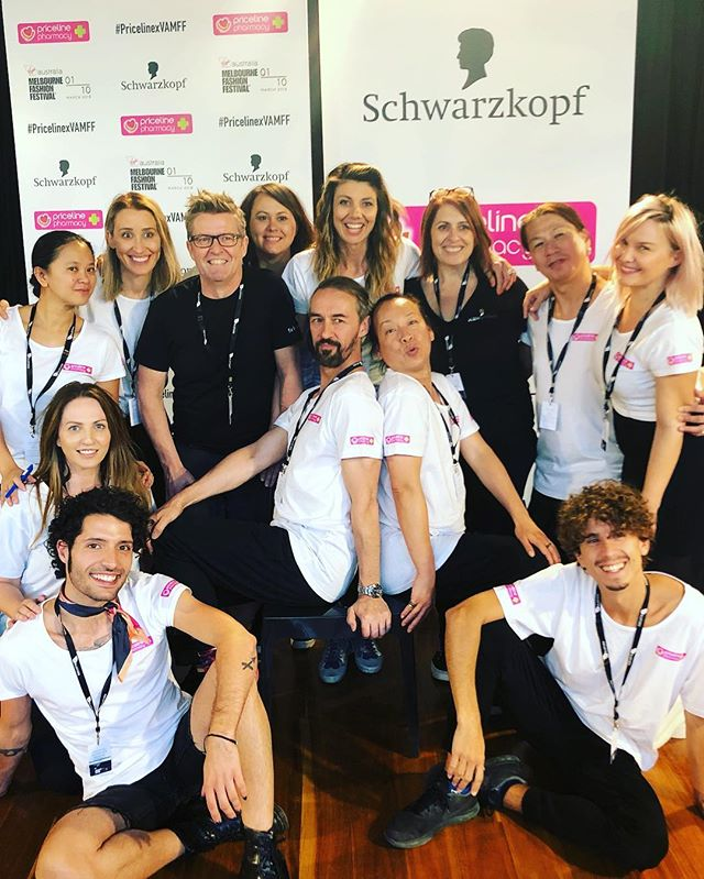 HAIR TEAM 🌏 2019 @vamff for @schwarzkopfau Thank you @grantwithnell for constantly trusting our team to deliver and what fun we had. What a week and it wouldn't of happened with out these amazing peeps  @loresgiglio @wendybunnett_hair @vanessabarney @beautybossbusiness @dan_desmondandmollyjones @iamjacintamaddalena @riccardobhair  @lsgcreative @lsgcreativestyling Hair Director @kennethstoddarthair @pricelineau using #schwarzkopf and @buddi @unionmanagement