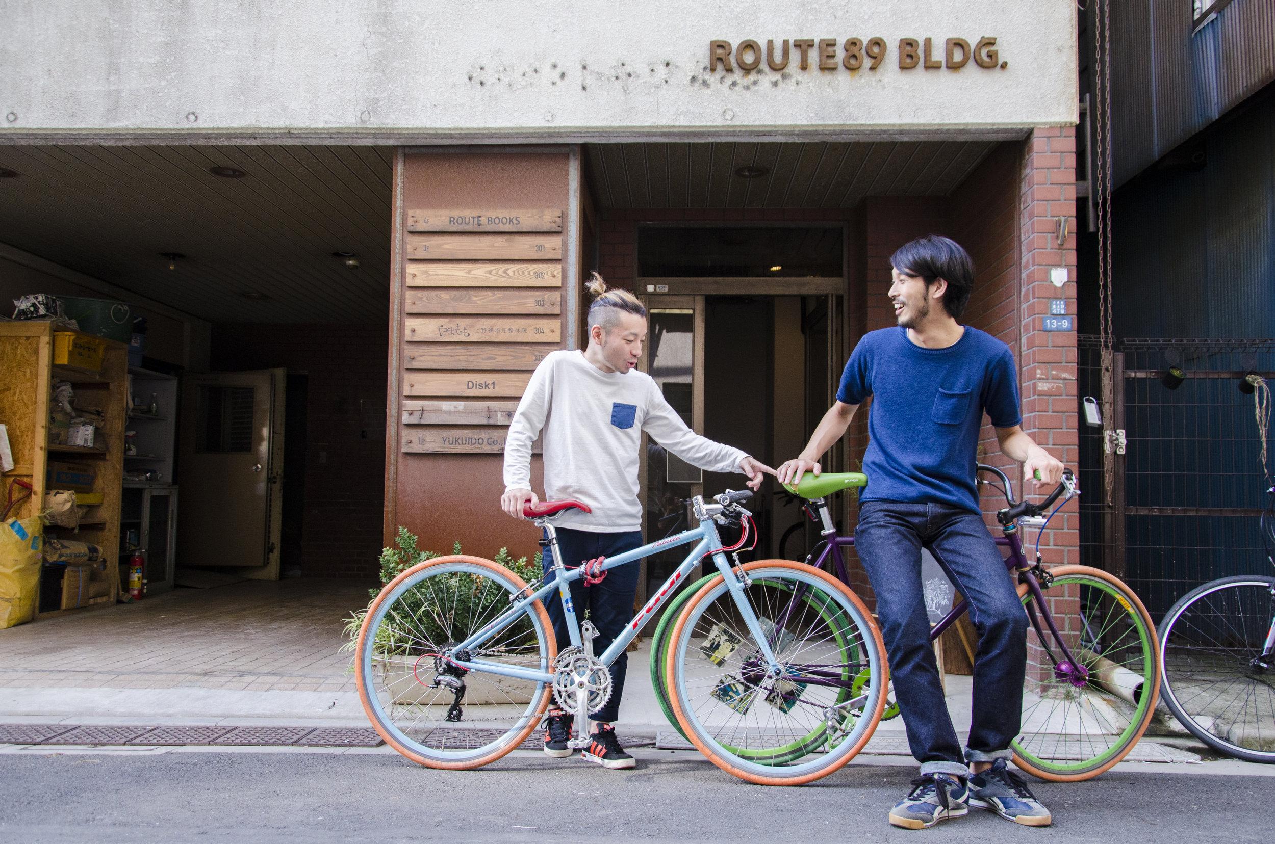 自転車出勤も可能です!