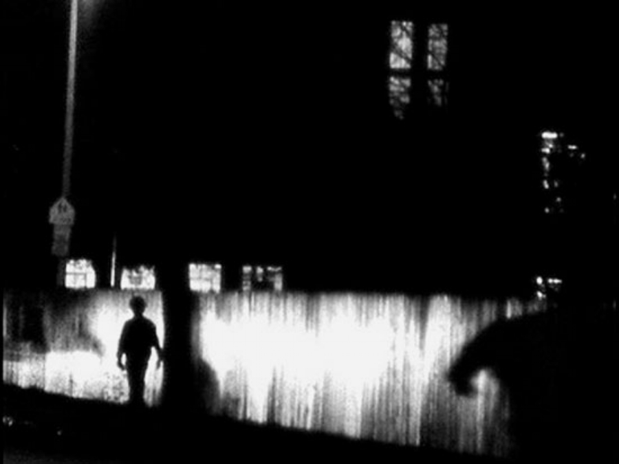 Nocturne  Phil Solomon  1980/1989 / 10 minutes / USA / 16mm / silent)  Finding similarities in the pulses and shapes between my own experiments in night photography, lightning storms, and night bombing in World War II, I constructed the war at home. -PS