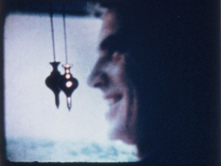Plumb Line     Carolee Schneemann   1972   18 minutes  USA   16mm  color   sound  Breaking down, splitting apart, burning up: a relationship and the film itself. Edited from scrap diary footage shot in 8mm, hand printed as 16mm. PLUMB LINE is a moving and powerful subjective chronicle of the breaking up of a love relationship. The film is a devastating exorcism, as the viewer sees and hears the film approximate the interior memory of the experience. -CS