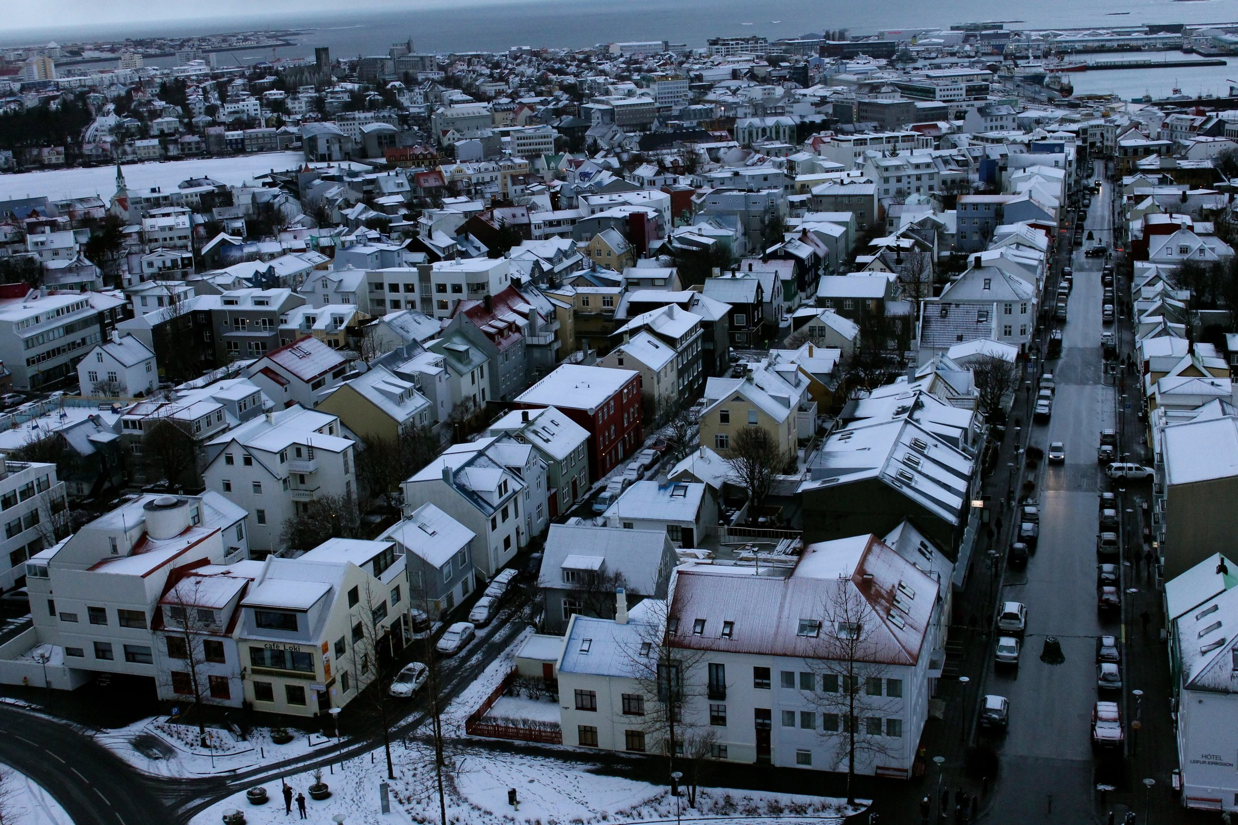 View from the top of  Hallgrímskirkja  church downtown.