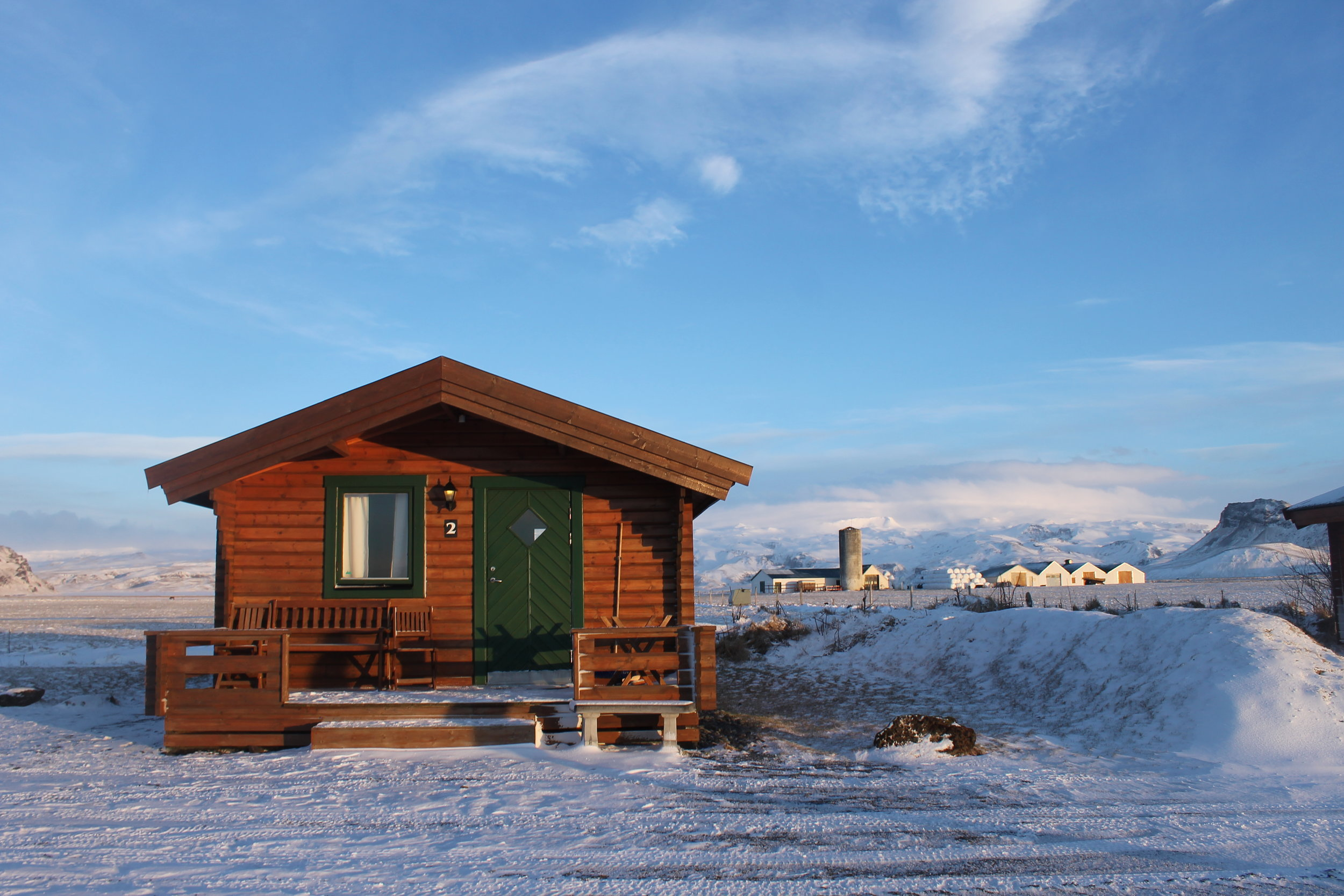 Our little home for the night.Hvoll Cottages in the south, about an hour from to Vík.