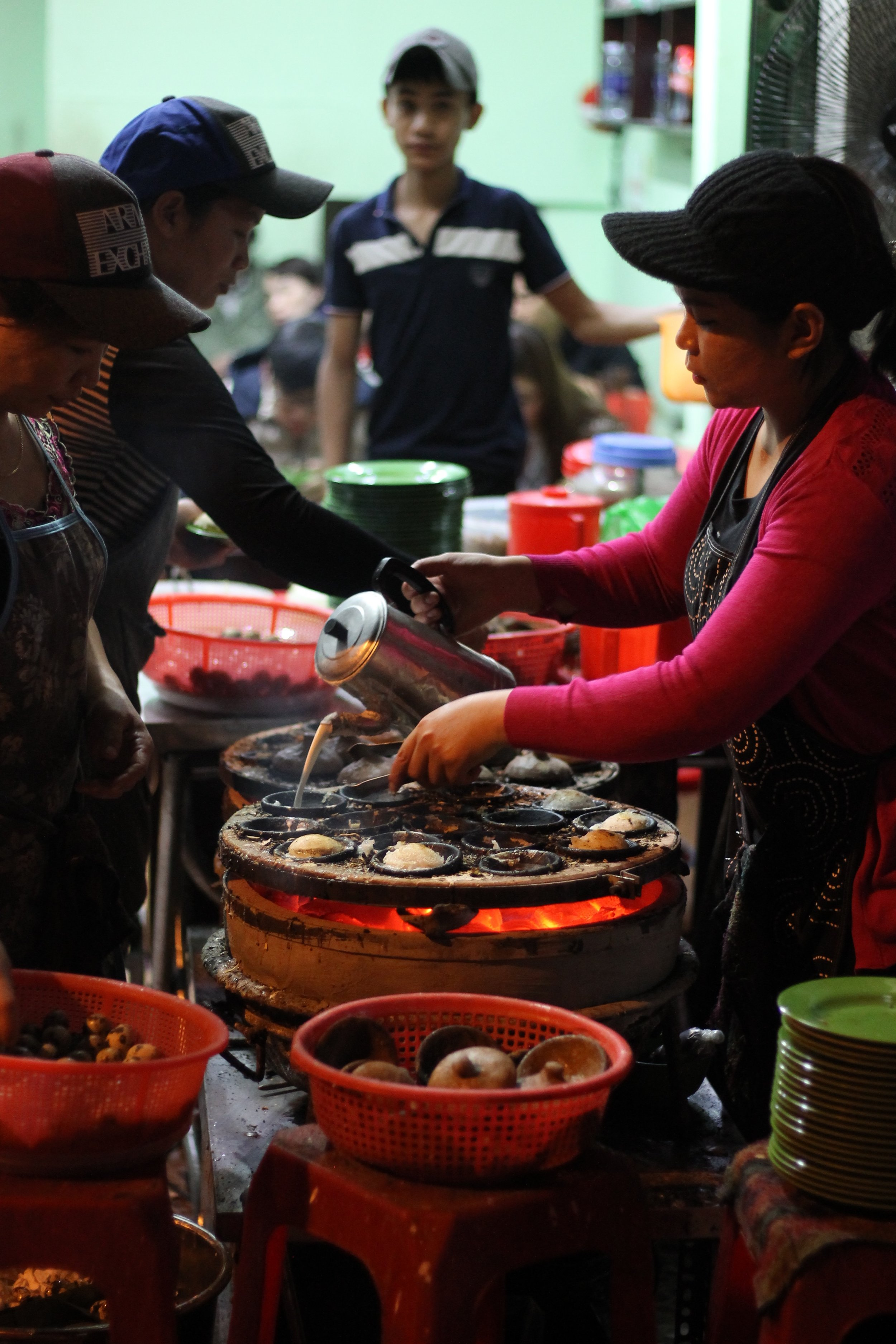 The street food scene is always its most lively at night. Taken in Da Lat.