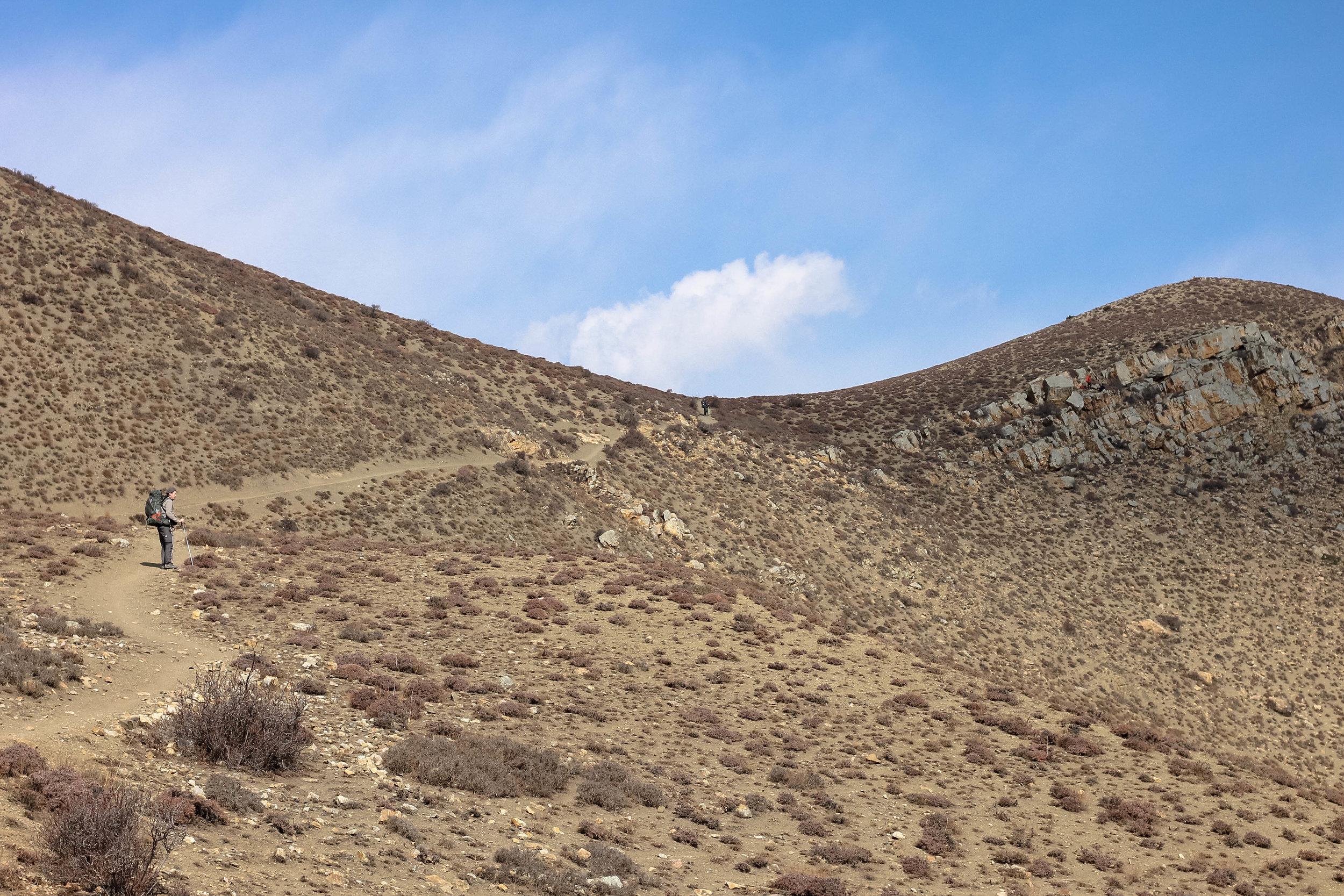 The sub-desert landscape in Muktinath.