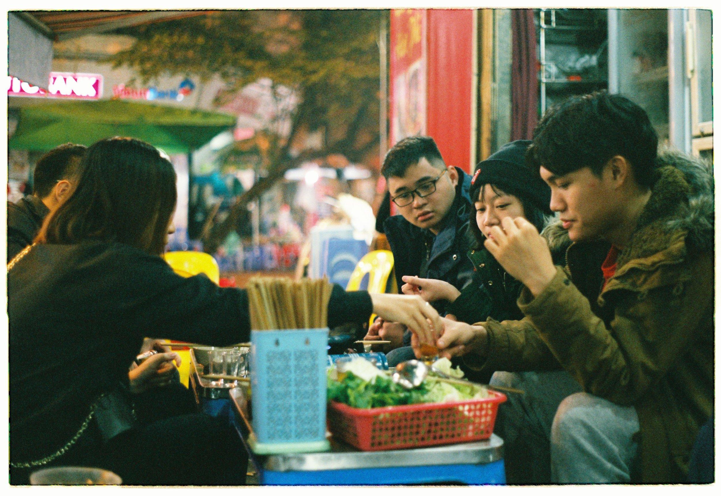Street food culture in Vietnam.