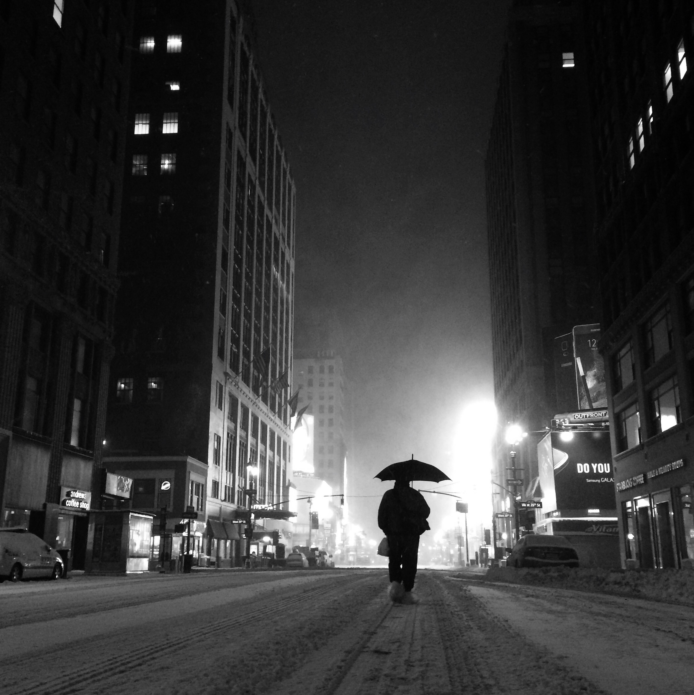 Snowstorm on 7th Avenue at 4am, 2015. (Kevin Martin)