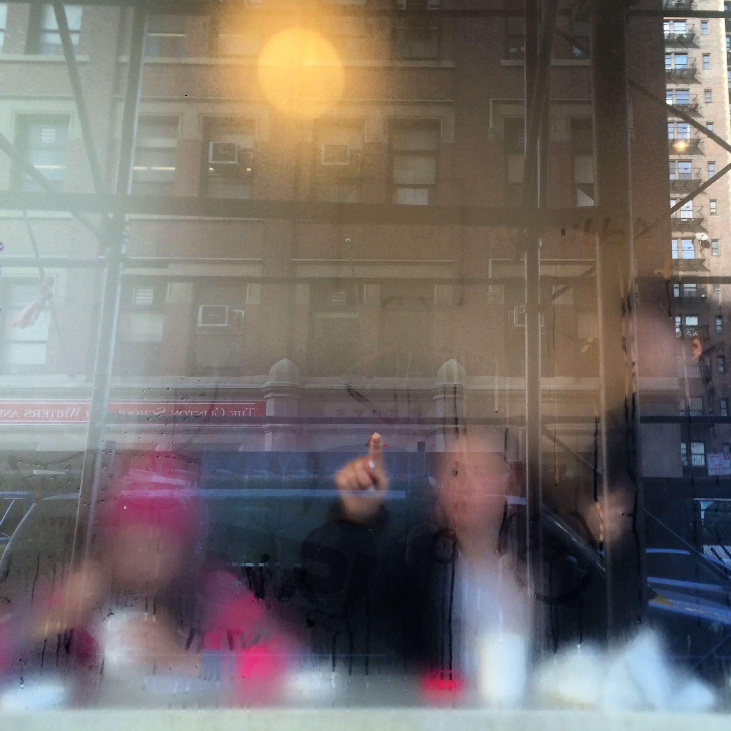 Drawing on a cafe window, Manhattan, 2015. (Kevin Martin)