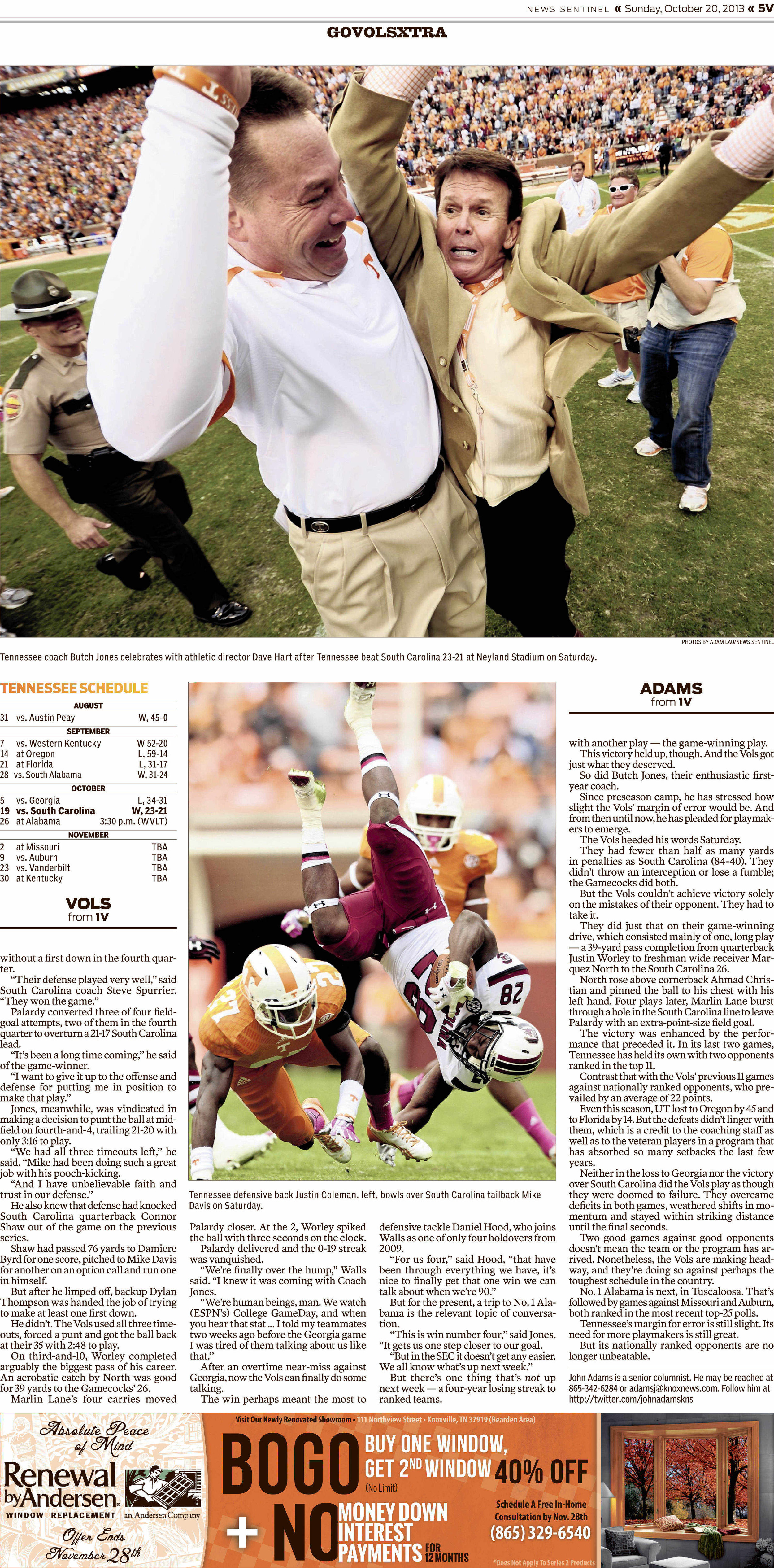Knoxville News Sentinel. Photos by Adam Lau.
