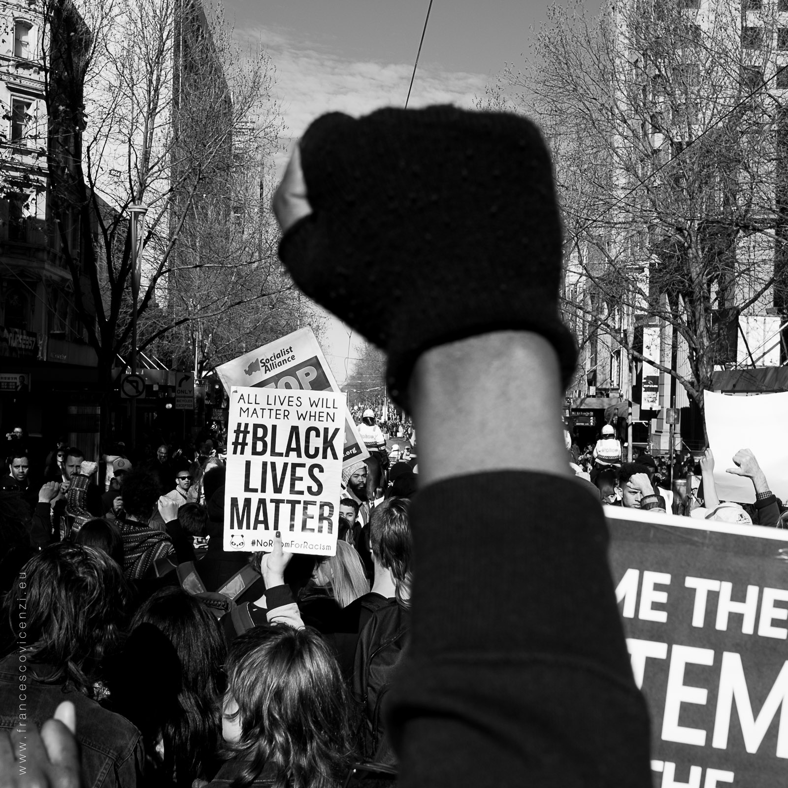 Black Lives Matter Demonstration - Melbourne Photo: https://www.facebook.com/francescovicenziphoto/