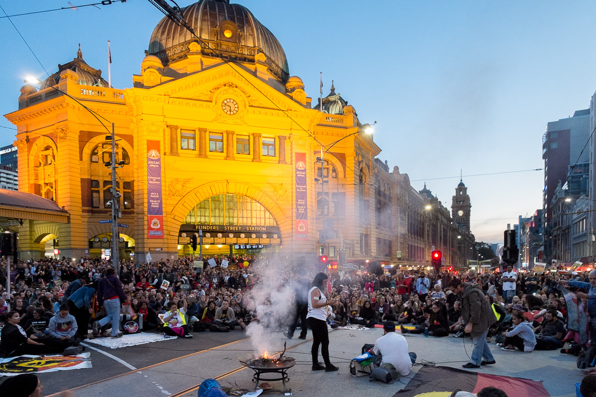 Warriors of the Aboriginal Resistance Protest - Melbourne