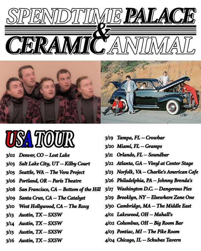 Just announced: @ceramicanimal is hitting the road again. Where can we count on seeing ya?