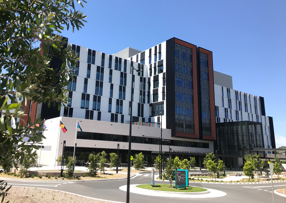 Entrance to the New Northern Beaches Hospital