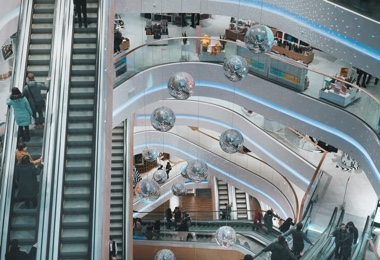 People on Escaltor inside Shopping Centre.jpg