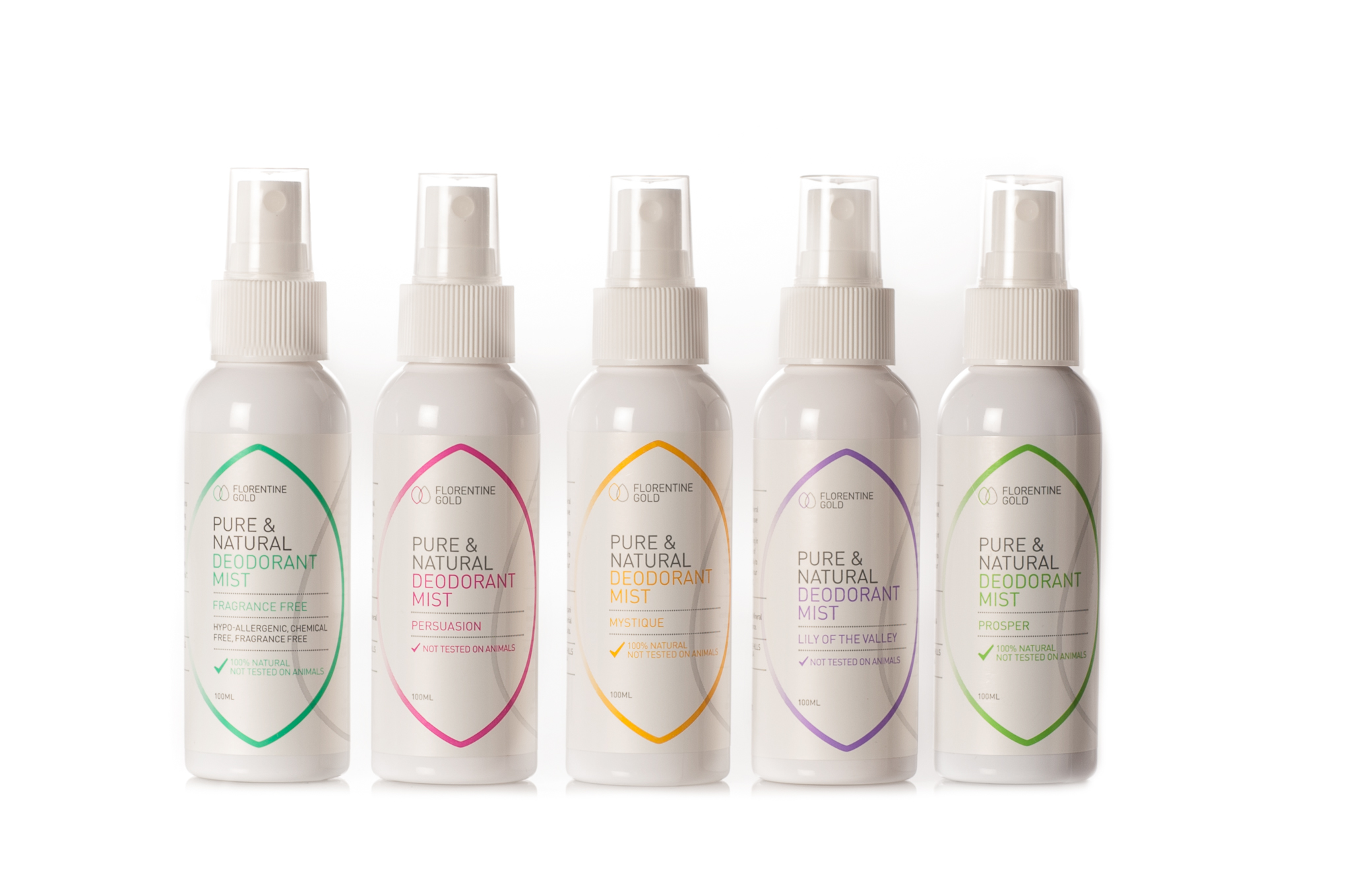 PURE & natural deodorants by florentine gold