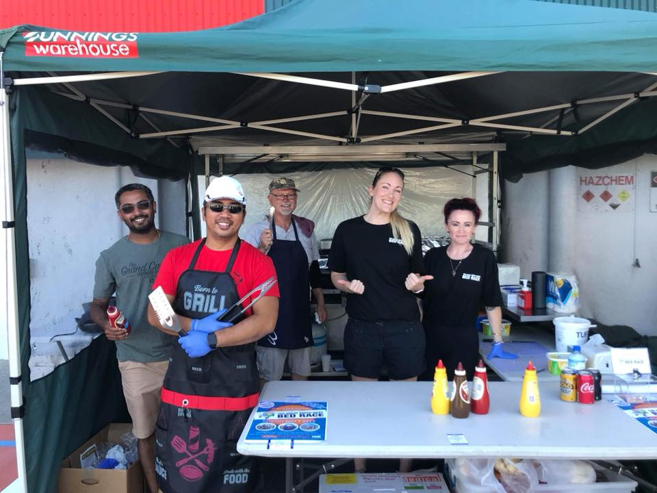 The St John of God Bunbury Hospital Renal Unit Team held a fundraising sausage sizzle at Bunnings Warehouse in Bunbury - the proceeds of which will go towards their team registration fee.