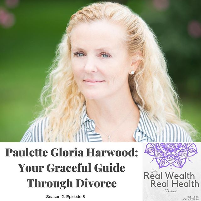 New podcast episode is out with Paulette Gloria Harwood @paulettegloria 💜💜💜 ⠀ This is one wise woman, courageous woman who has turned one of her most painful experiences into a source of strength for others. ⠀ ⠀ ⠀ Paulette is a certified divorce coach as well as an experienced yoga teacher, yoga teacher trainer, author, speaker and unshakeable essentialist! ⠀ ⠀ We connected over the Goalcast video and I knew that her wisdom and heart could be helpful to so many women who are considering, or in the middle of, a divorce. ⠀ ⠀ ⠀ Paulette's wisdom, her heart-centered yet fierce approach to life, living and relationships is inspiring - whether you're in a bad relationship spot - or a great partnership! We talk about so many things - diving into yogic philosophy of mind and body, and life principles that can help us all live more aligned to who we truly ARE.⠀ .⠀ .⠀ .⠀ .⠀ .⠀ Link in bio above!⠀ ⠀ #rwrh #newpodcastepisode #wisewoman #divorcecoach #healingfromheartache #iamlove #loveyourself #inspiringwomen #adapia