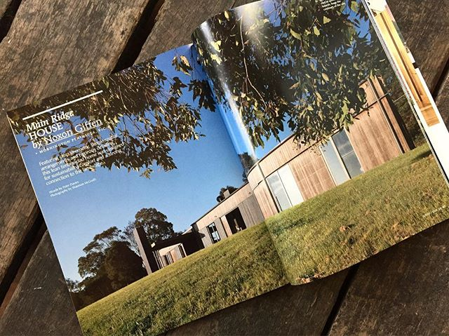 Thrilled our Main Ridge House is featured in this months edition of @housesmagazine amongst great company thank you @katelinbutler