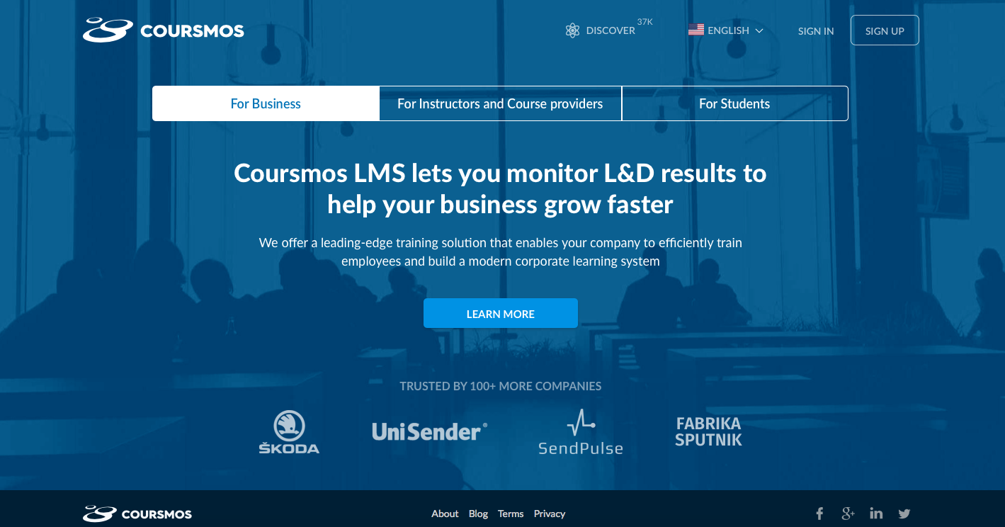 coursmos.com  A leading-edge training solution that enables companies to efficiently train employees and build a modern corporate learning system