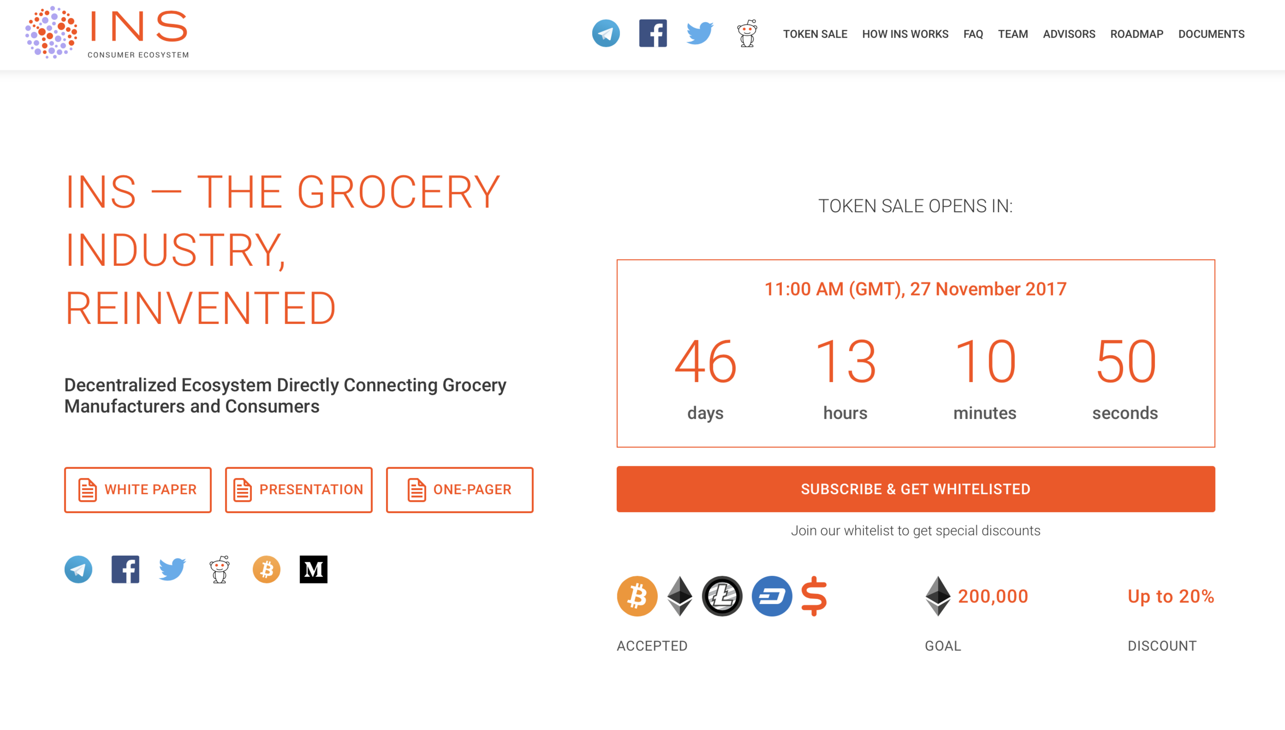 ins.world Decentralized ecosystem directly connecting grocery manufacturers and consumers