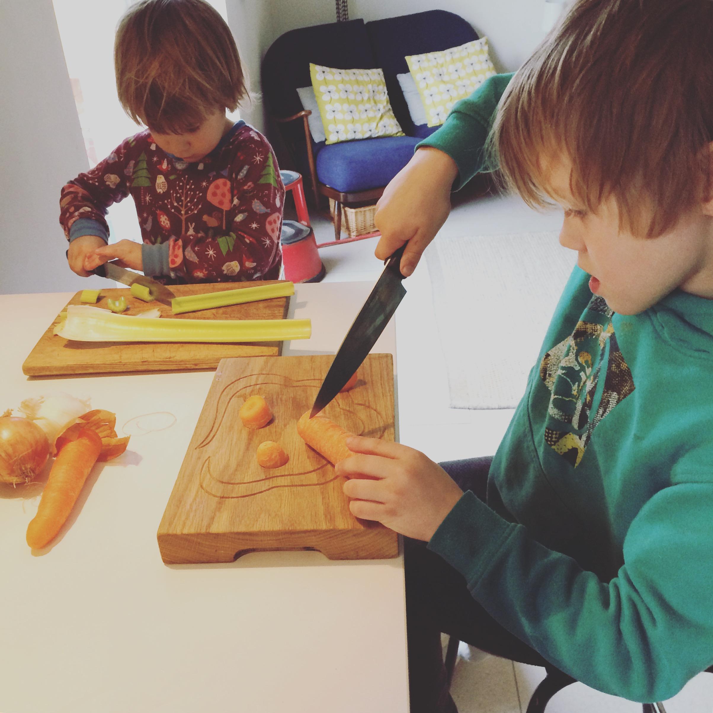 Mummy's little helpers.