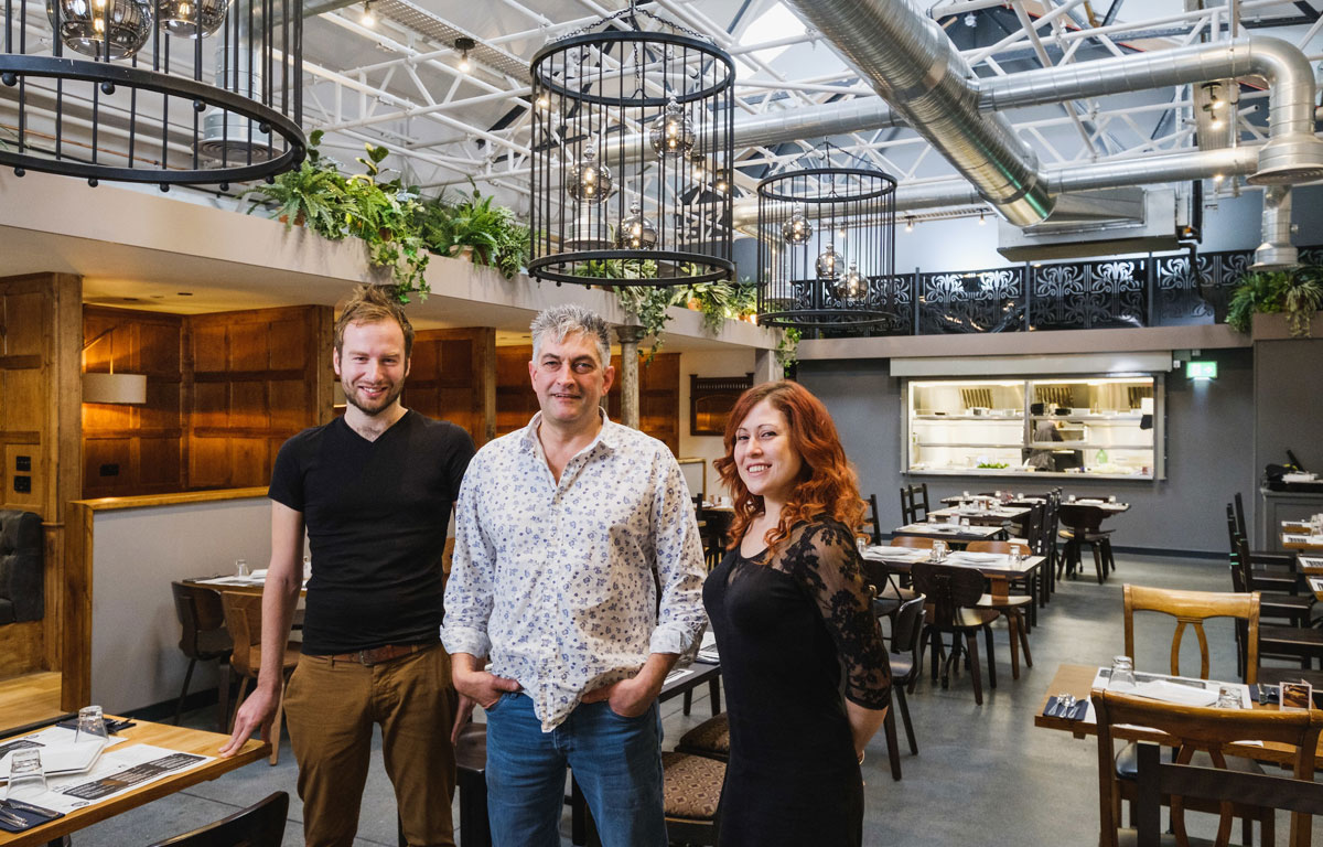 Owner Tim Sinclair, centre, Group General Manager Rob Scott-South and Restaurant Manager Jemma Chance are excited by the latest location for Ambiente Tapas in Hull's Fruit Market waterside district.
