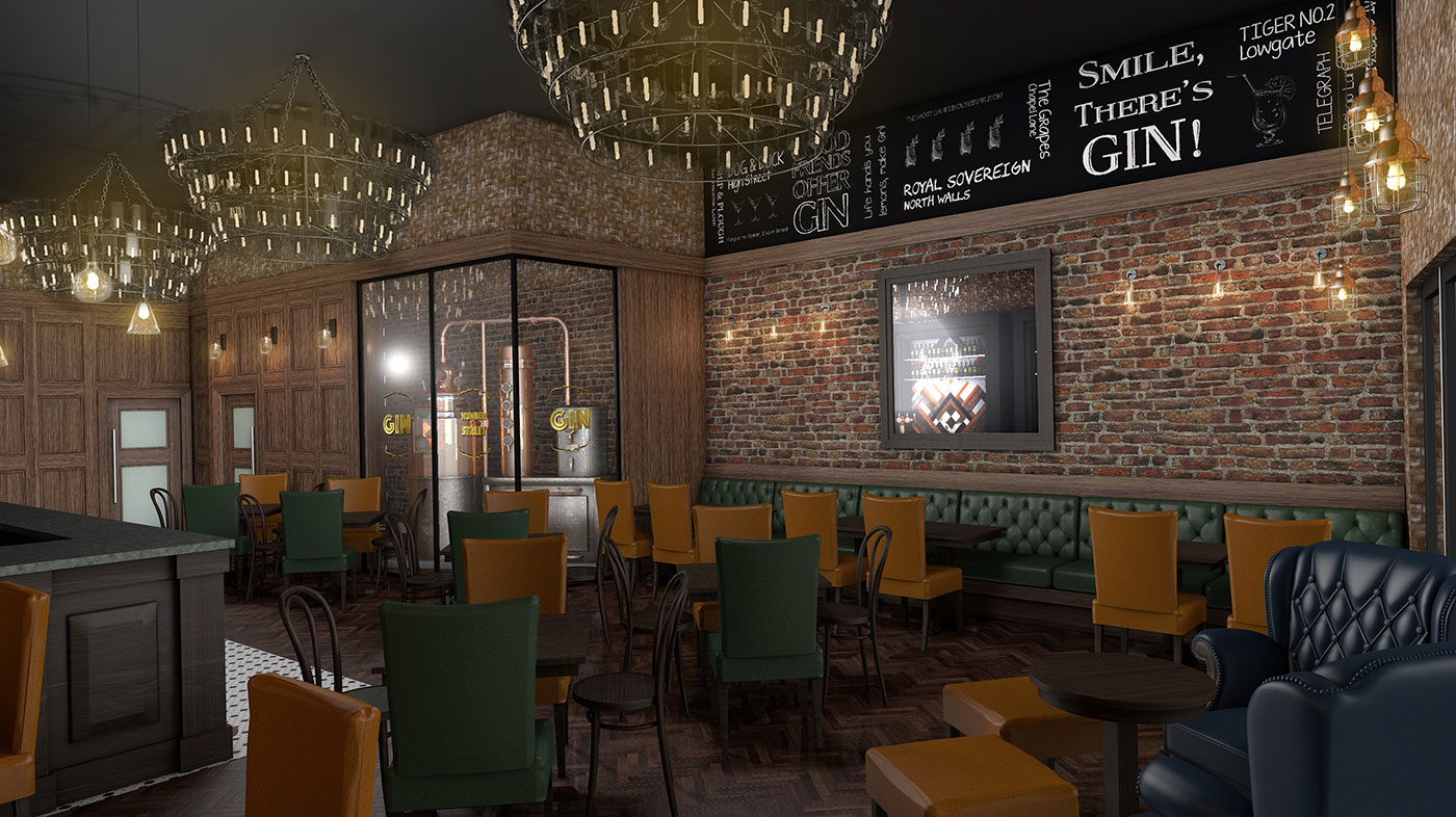 """The new """"speakeasy style"""" bar will feature a still on display behind a glass wall in the bar area so customers can see the gin being produced."""