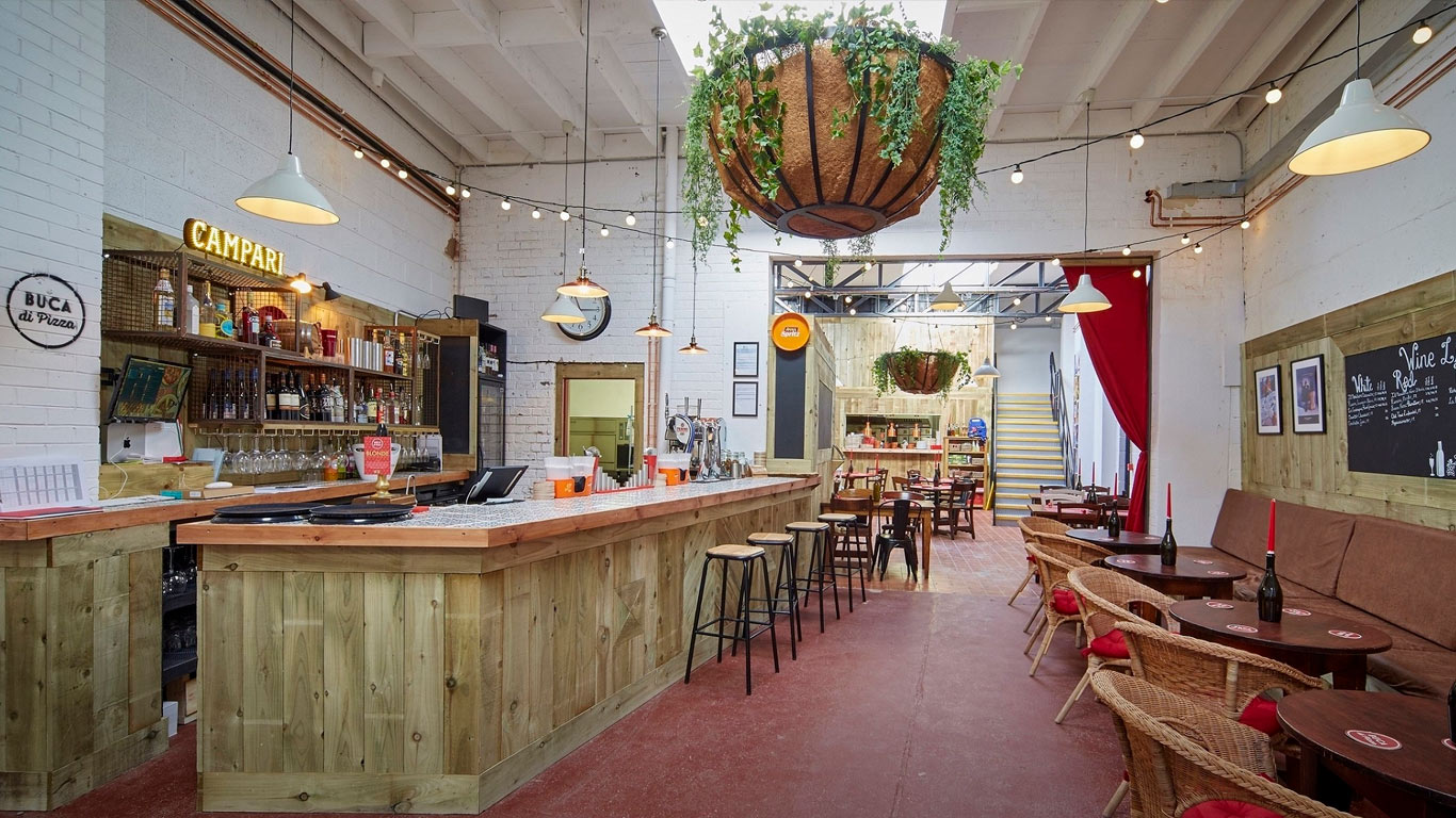 Buca di Pizza's owners have invested £175,000 converting a former fruit and veg warehouse into the Fruit Market's latest distinctive dining venue.