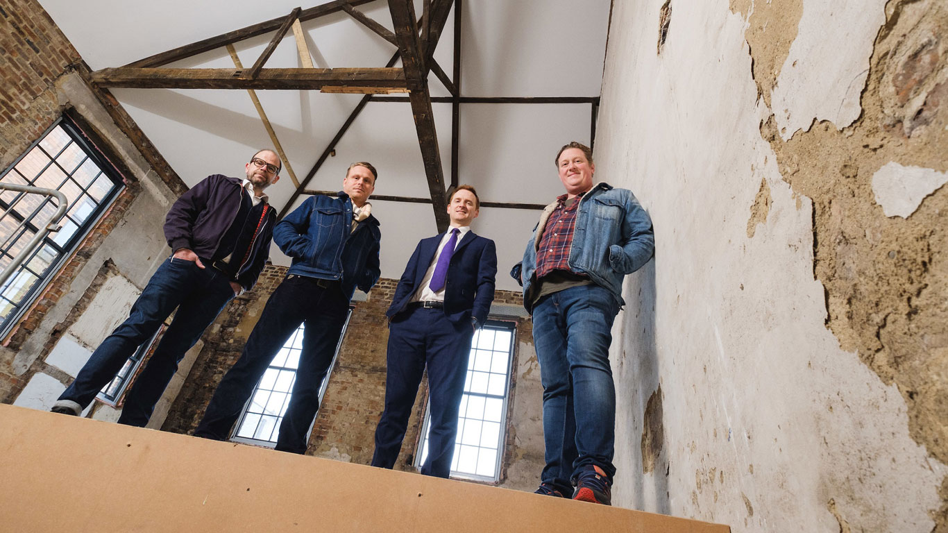 J. Johnson partners, from left, Chris Eastaugh, Jason Gittens and Dan Robinson will open the newest venue in Hull's Fruit Market after the restoration of one of the oldest and most characterful buildings in Humber Street.