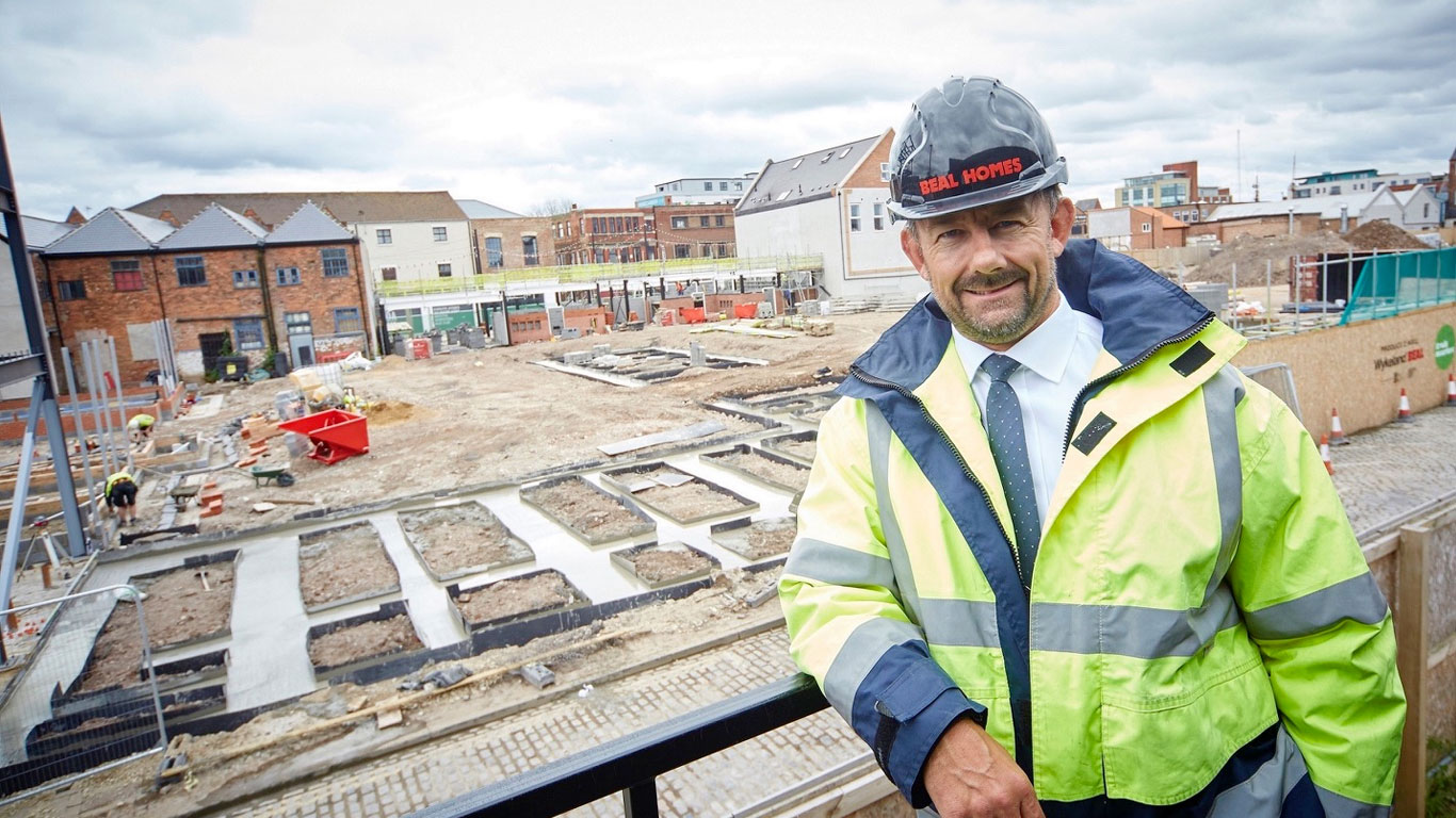 """Beal Homes Chairman and Managing Director Richard Beal says it's now """"full steam ahead"""" with construction of new homes that will form a key part of Hull's first urban village"""