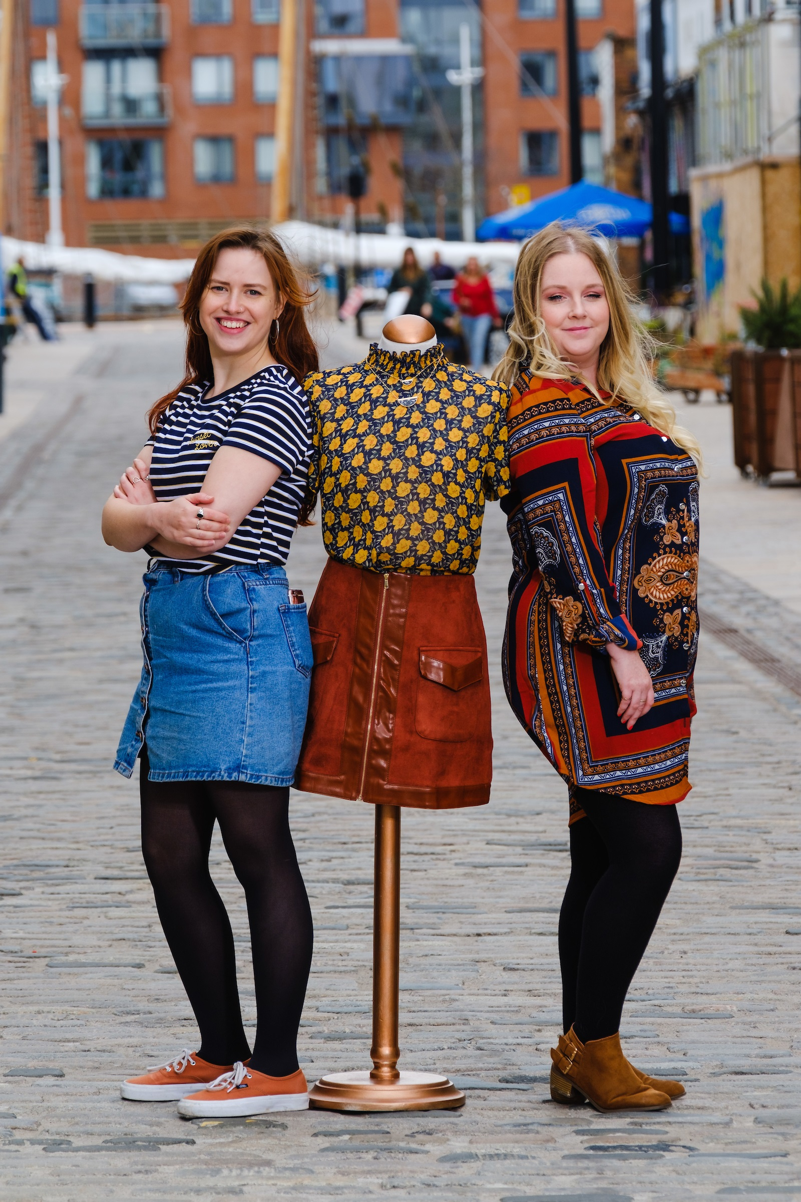 Tessies owner Nicola Gibbons, right, and Manager Anna Carter are excited about joining the creative community in the trendy Fruit Market district.