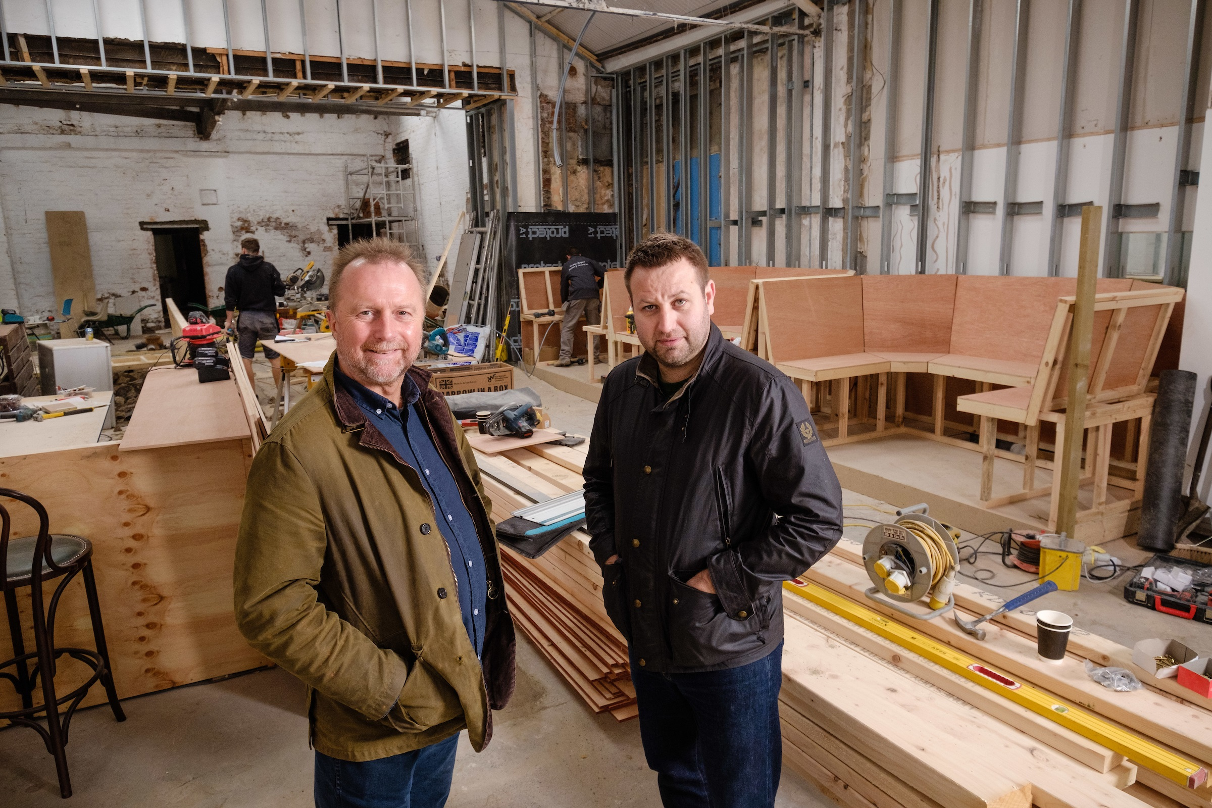 Owners Guy Falkingham (left) and Lee Kirman in the new venue which will combine a working brewery with a high-quality bar.