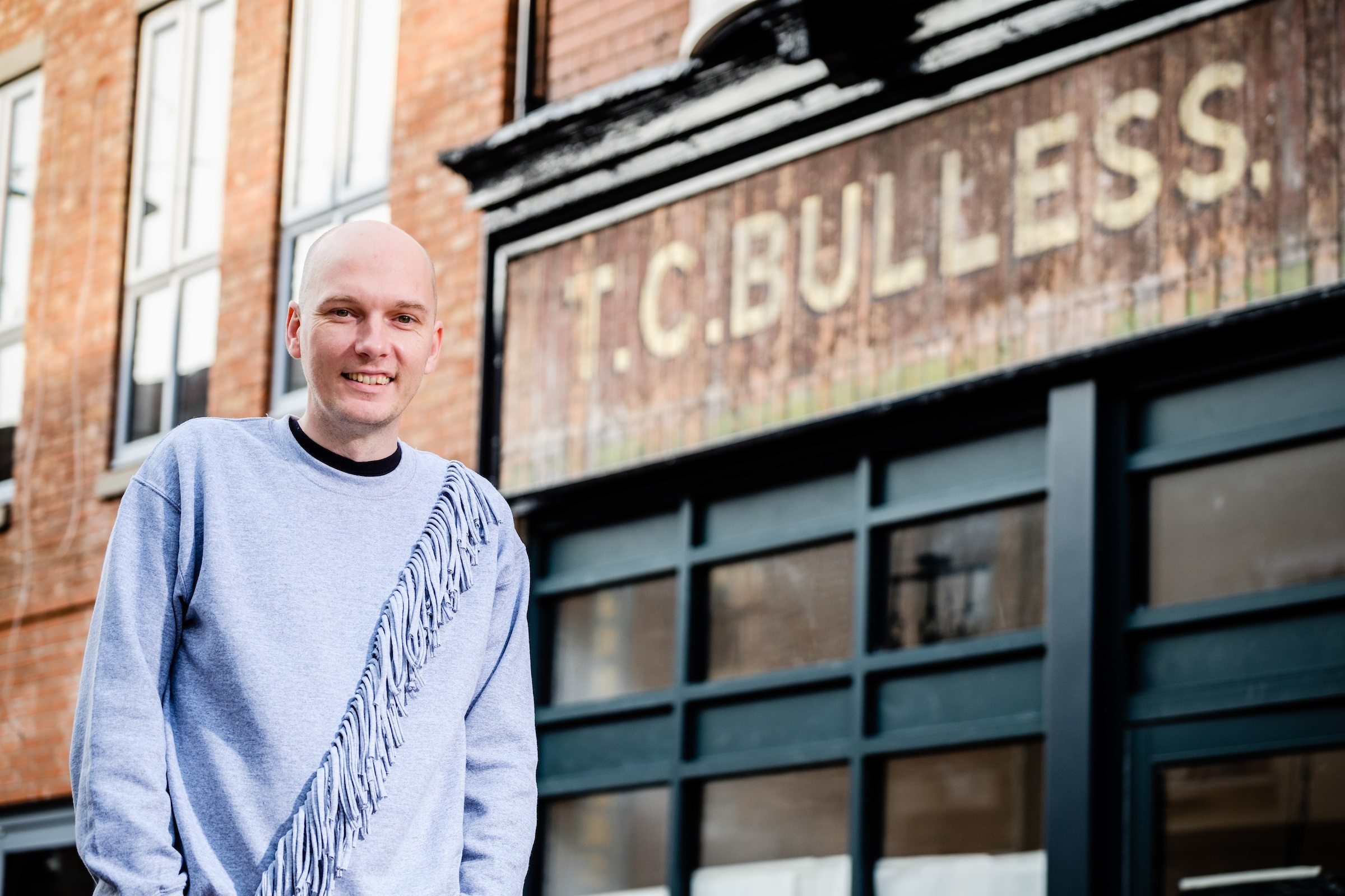 Owner Shaun Barker-Newton outside his new venture which opens on Humber Street on November 10.