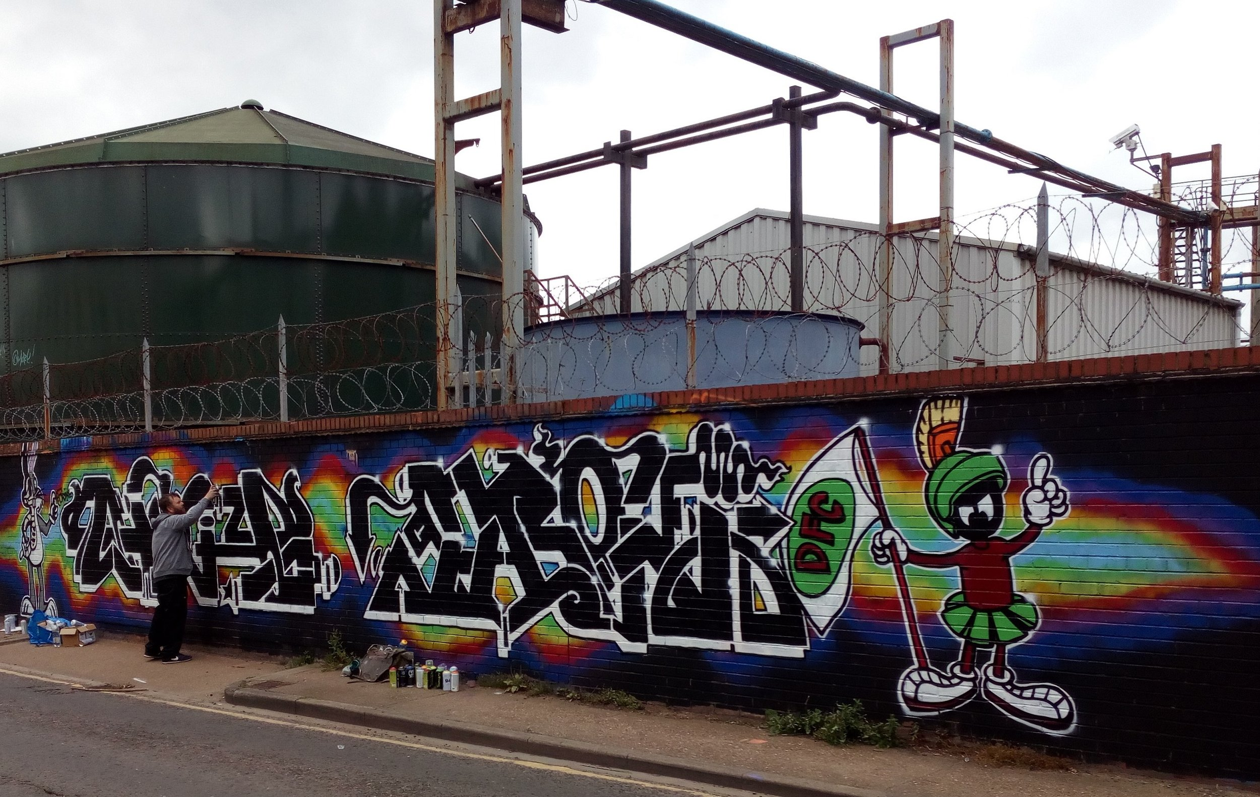 Graffiti artwork by Nohone and VRok of the DFC crew at Bankside Gallery, Hull