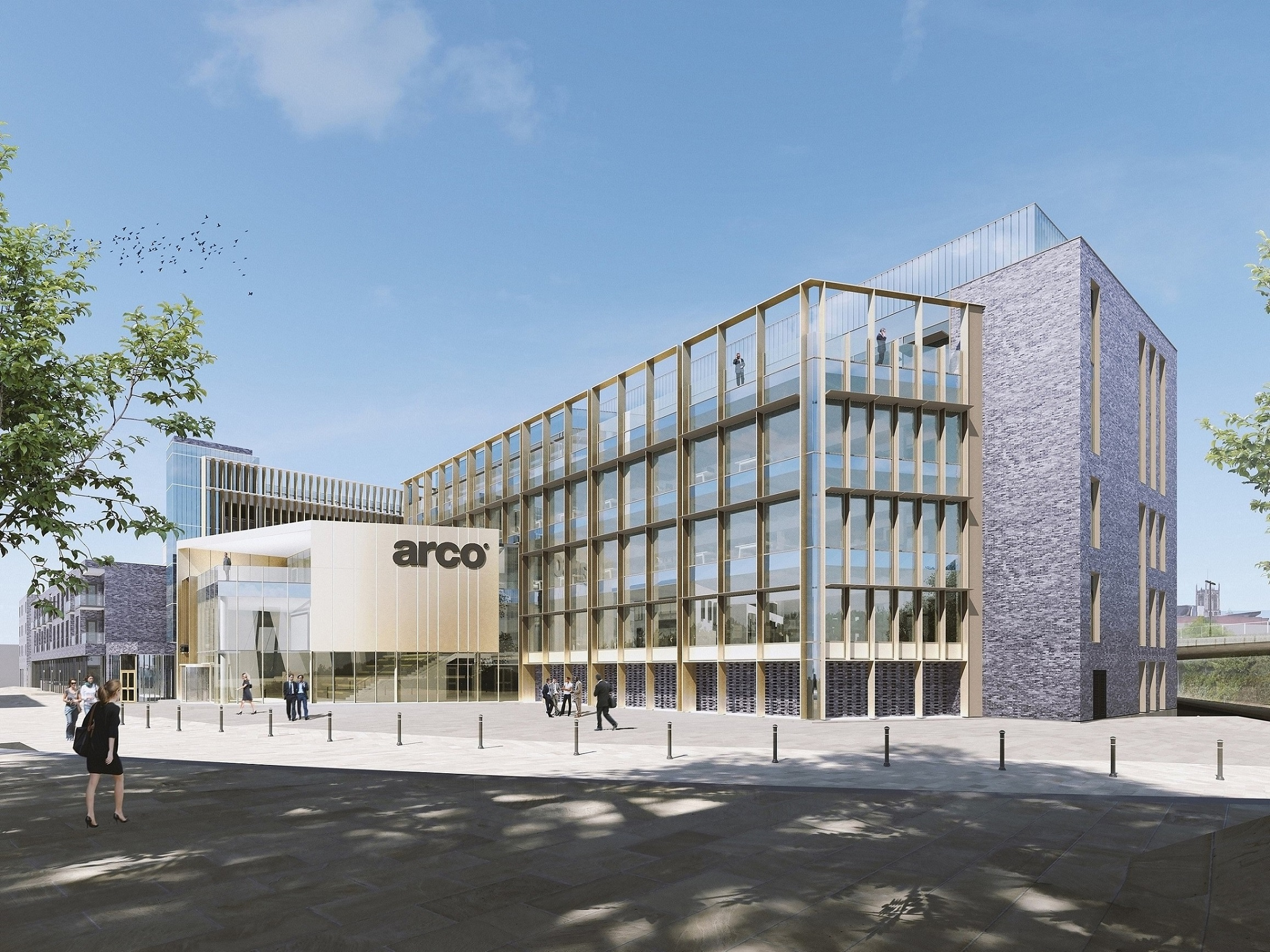 An impressive new headquarters for Arco, the UK's leading safety company, is the centrepiece of the latest phase of the regeneration of Hull's Fruit Market. The development, including a 350 space multi-storey car park, has been approved by Hull City Council's Planning Committee.