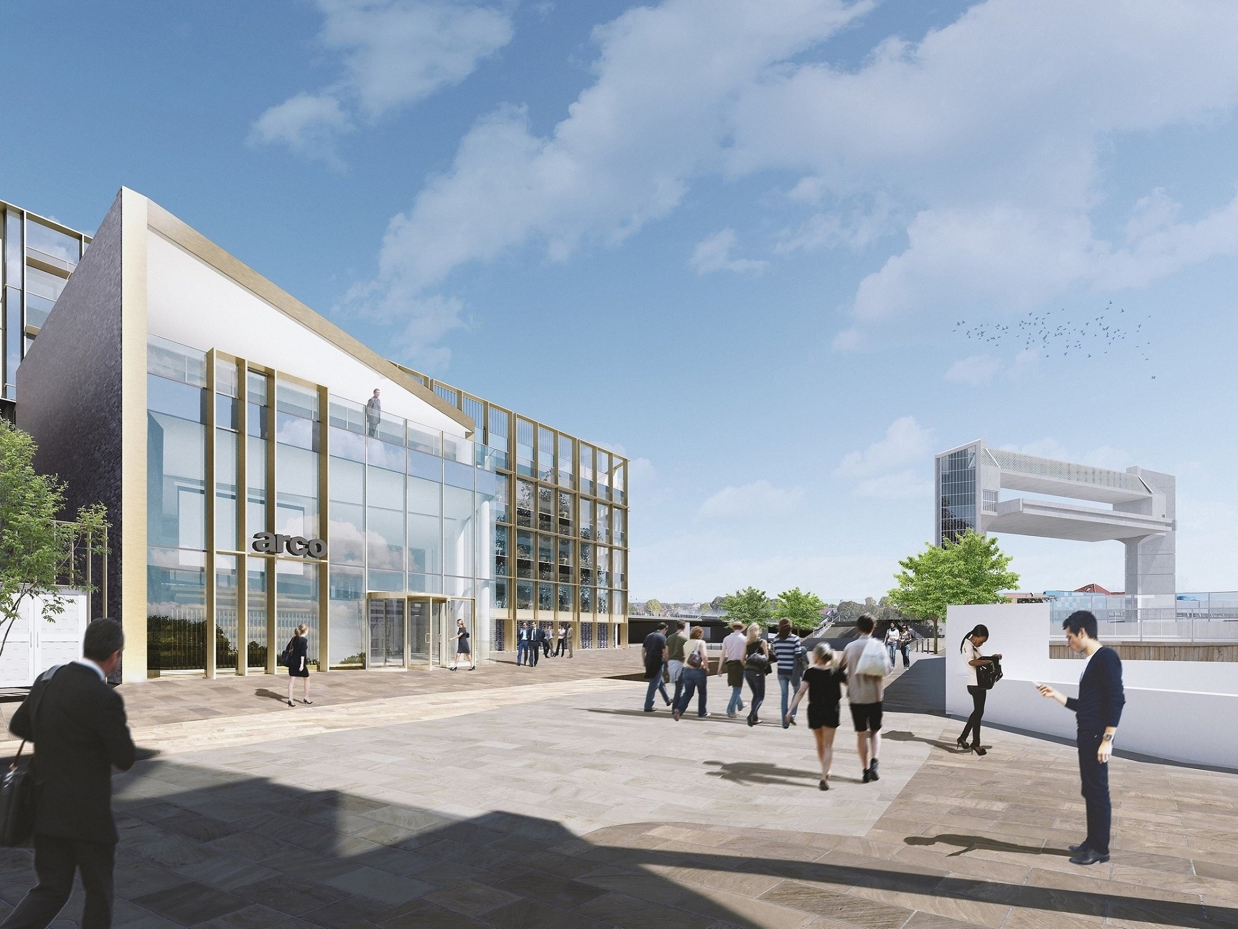 A computer-generated image of the new head office building for Arco, which will have views of the River Hull, The Deep tourist attraction and the landmark Hull Tidal Barrier. The offices are part of a wider development approved by Hull City Council's Planning Committee.