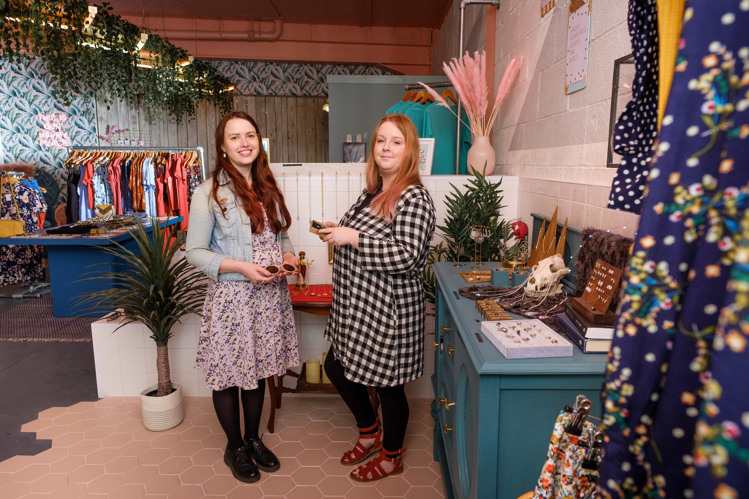Owner Nicola Gibbons, pictured right, with manager Anna Carter inside Tessies which has just opened on Humber Street, in the heart of the Fruit Market.