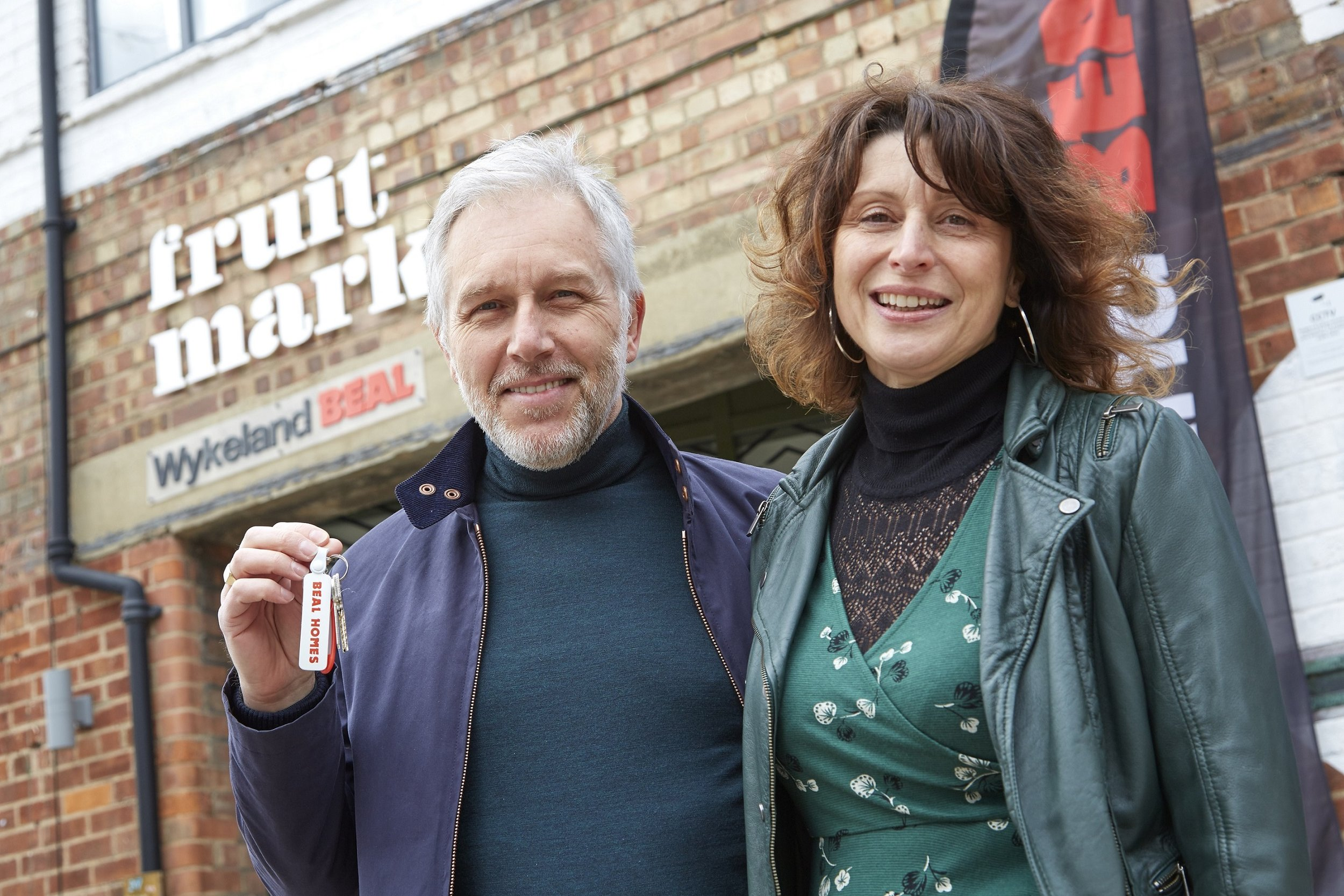 The first residents of the new Fruit Market community, Steve Copeman and Claire Bell, moved into their new property in March.
