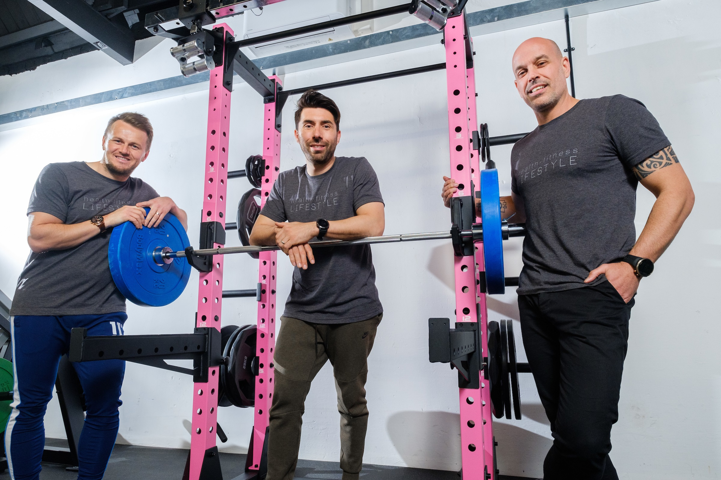 From left, Wayne Audsley, Riccardo Seaton and Dale Robinson are inviting people to try out their new urban gym and fitness space in Hull's regenerated Fruit Market waterfront quarter.