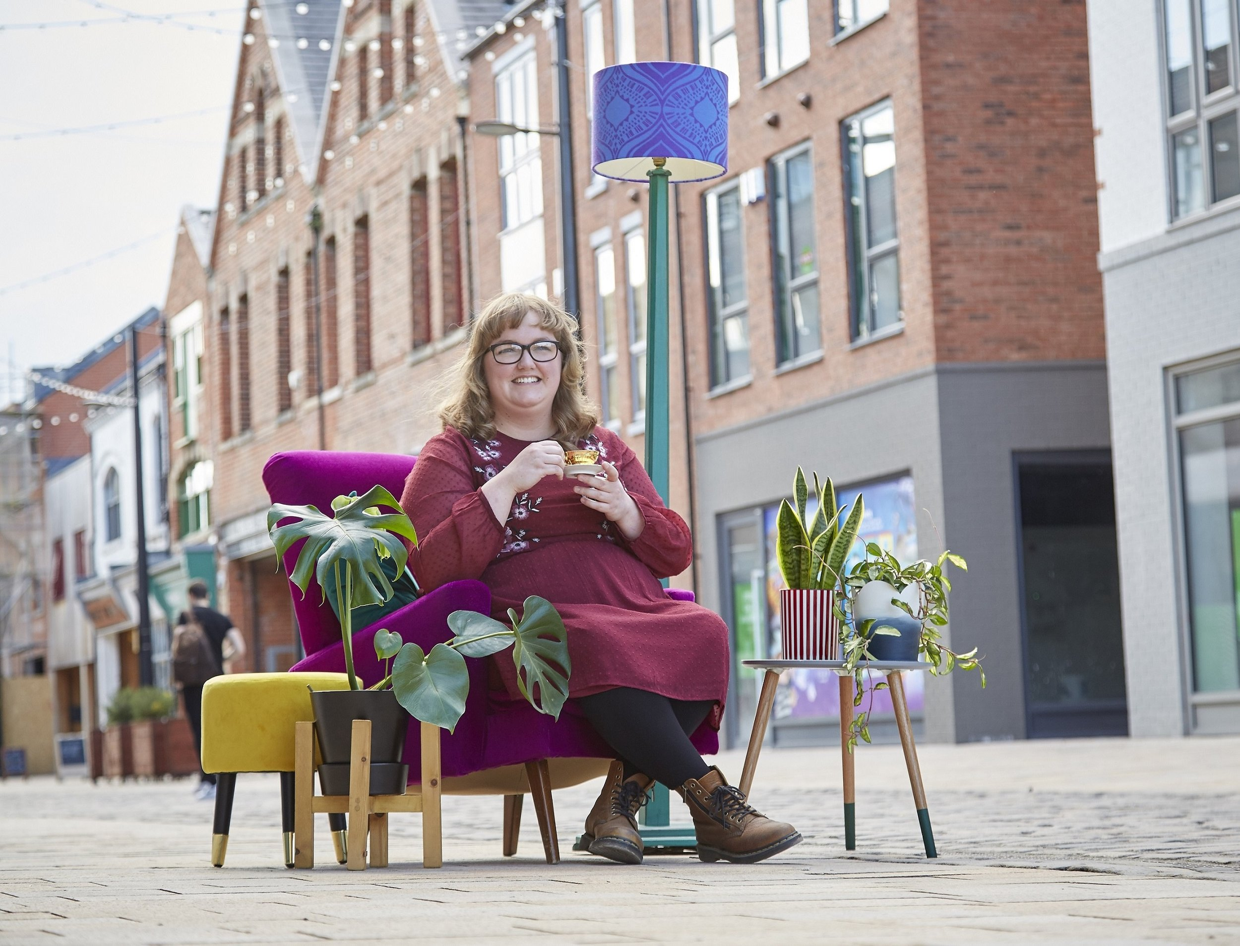 Owner Lara Roberts is bringing her business selling upcycled decorative furniture and house plants to Humber Street in Hull's Fruit Market creative quarter.
